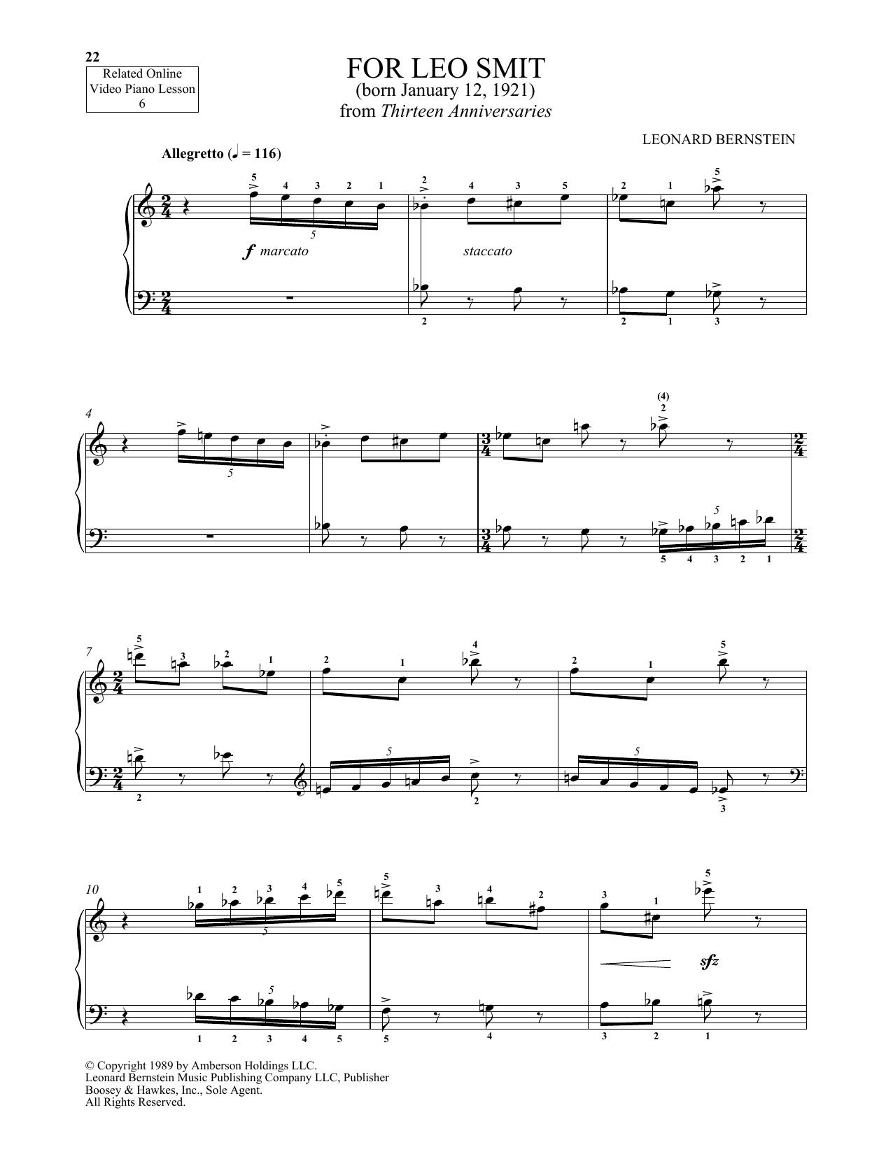 For Leo Smit (Piano Solo)