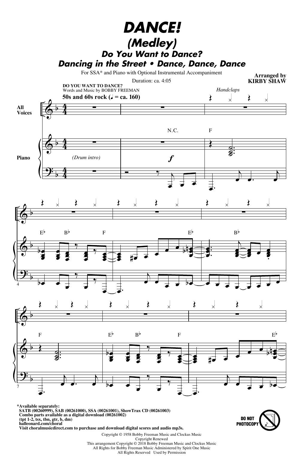 DANCE! (Medley) Sheet Music