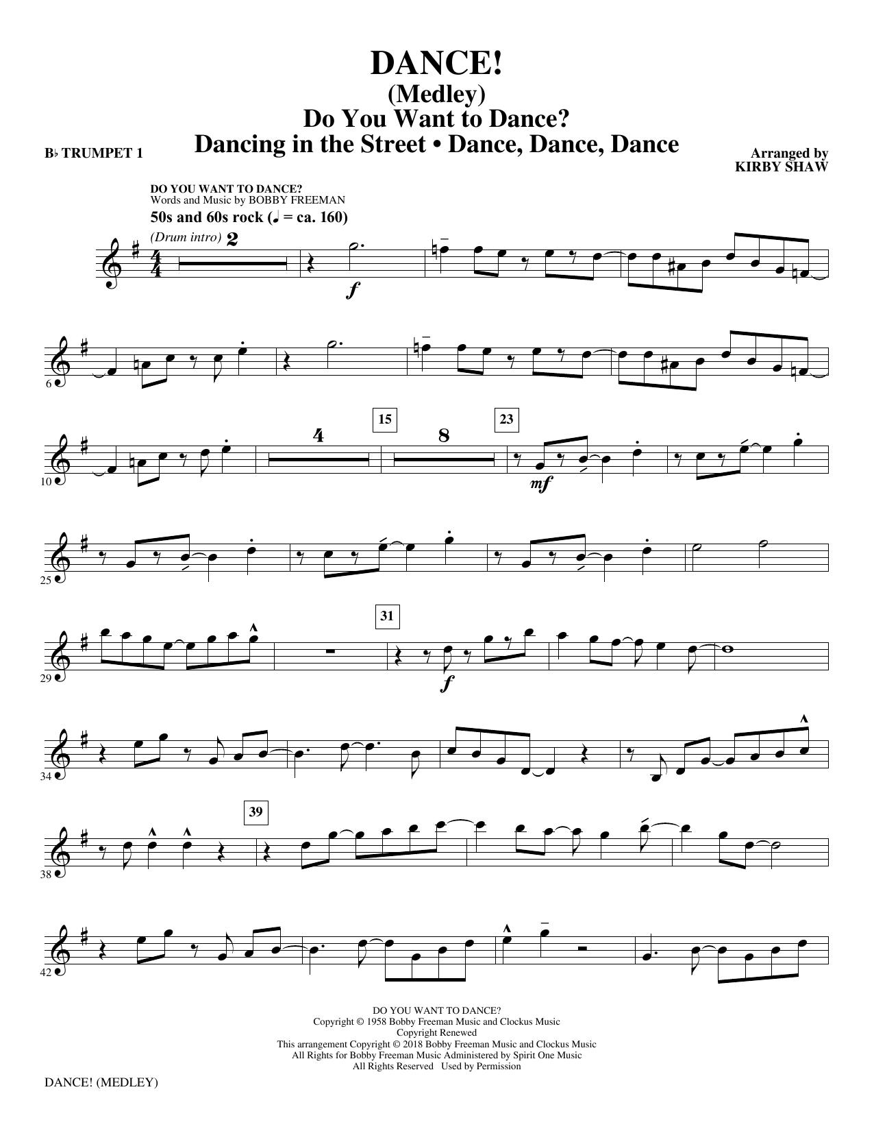 DANCE! (Medley) - Bb Trumpet 1 (Choir Instrumental Pak)