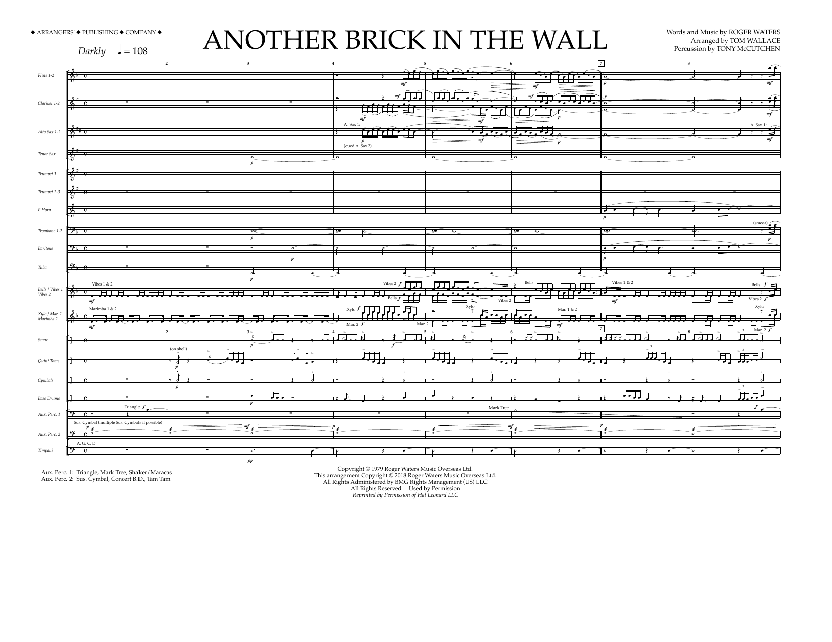 Another Brick in the Wall - Band Music Download