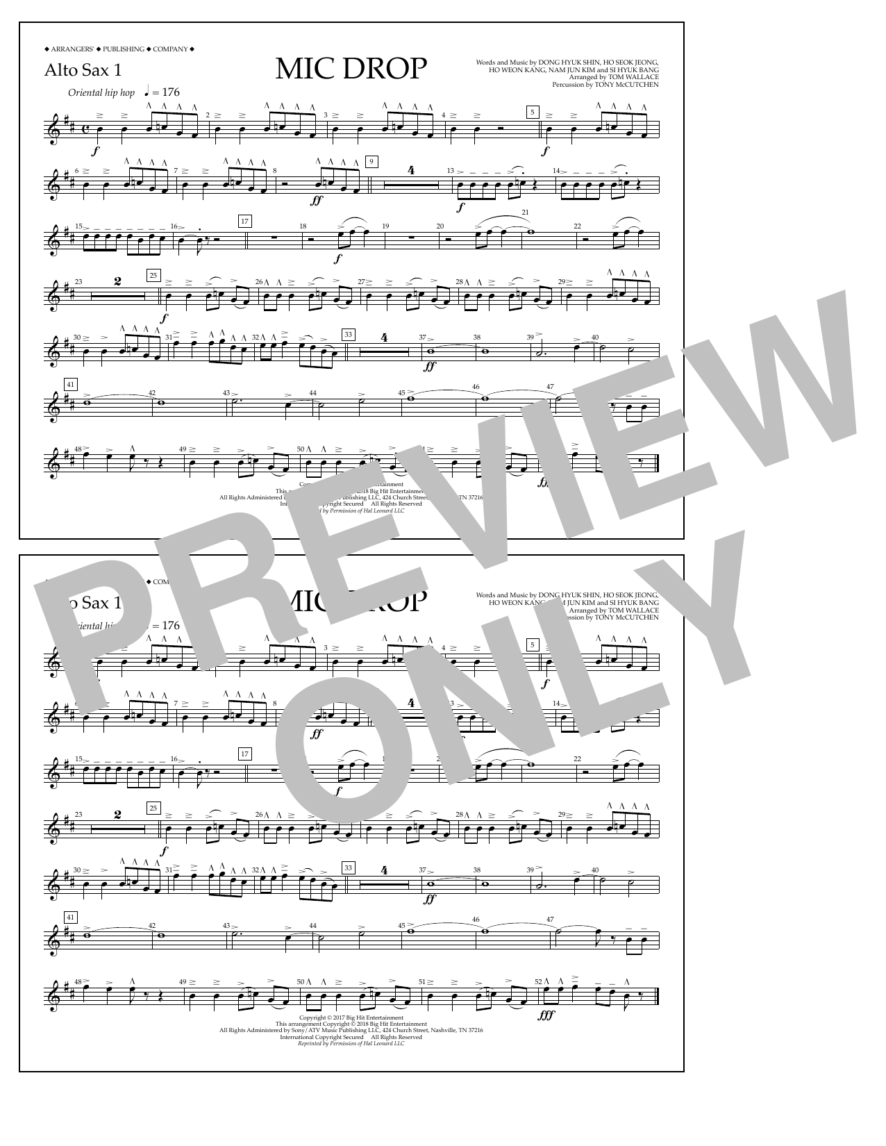 Mic Drop - Alto Sax 1 (Marching Band)
