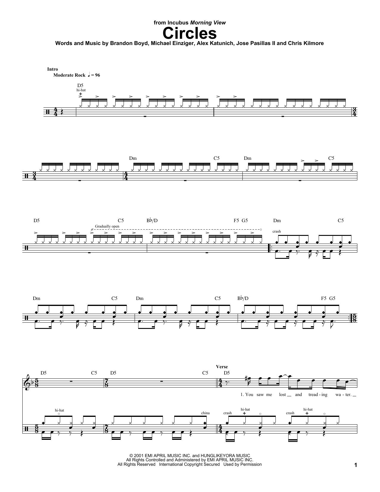 Circles (Drums Transcription)