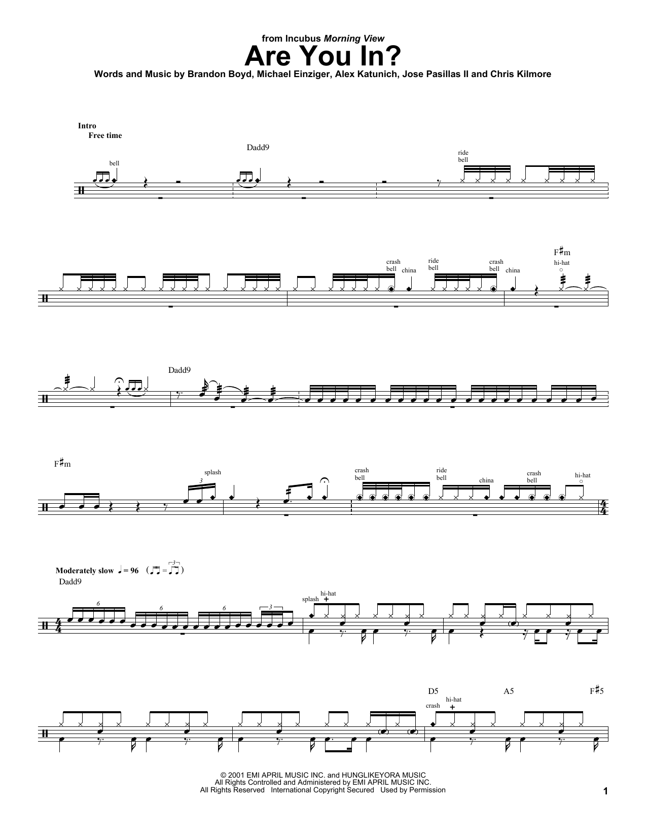 Are You In? Sheet Music