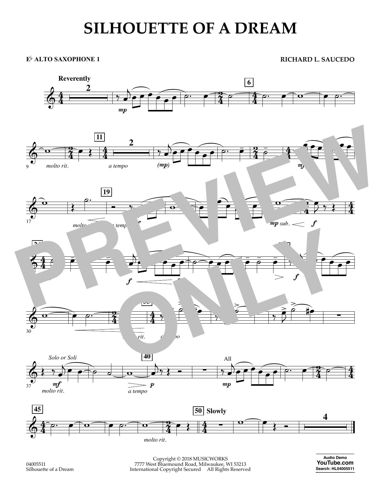 Silhouette of a Dream - Eb Alto Saxophone 1 (Concert Band)