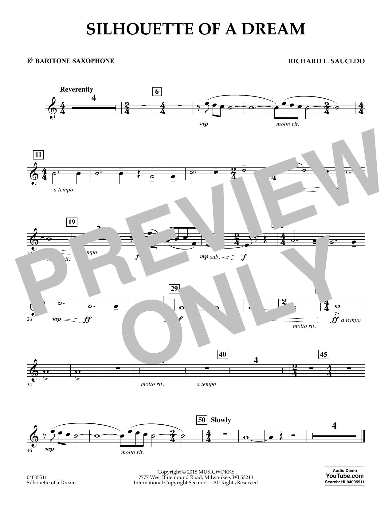 Silhouette of a Dream - Eb Baritone Saxophone (Concert Band)