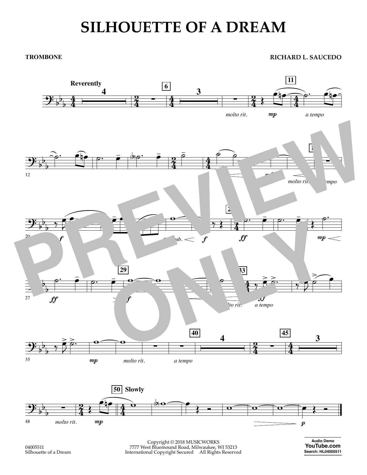 Silhouette of a Dream - Trombone (Concert Band)