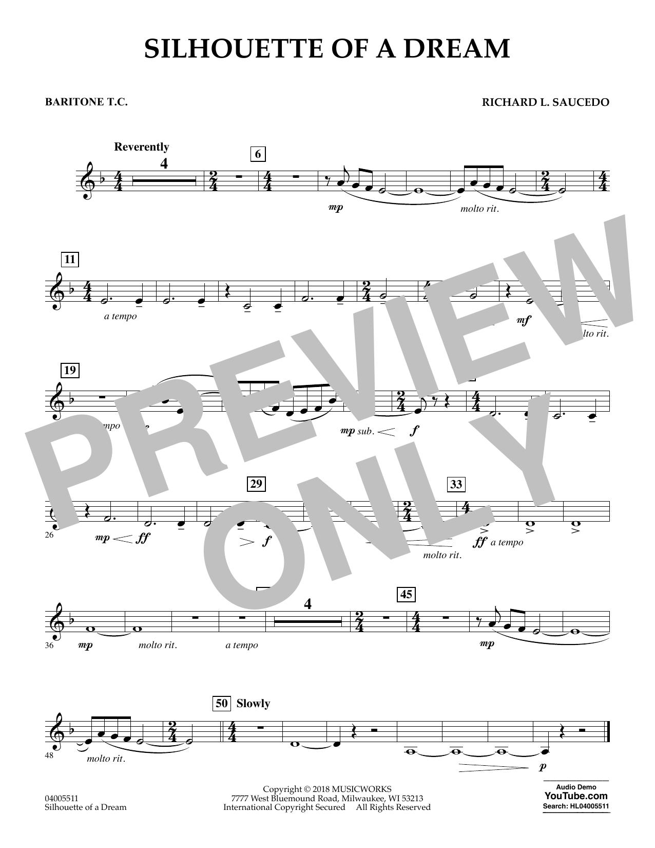 Silhouette of a Dream - Baritone T.C. (Concert Band)
