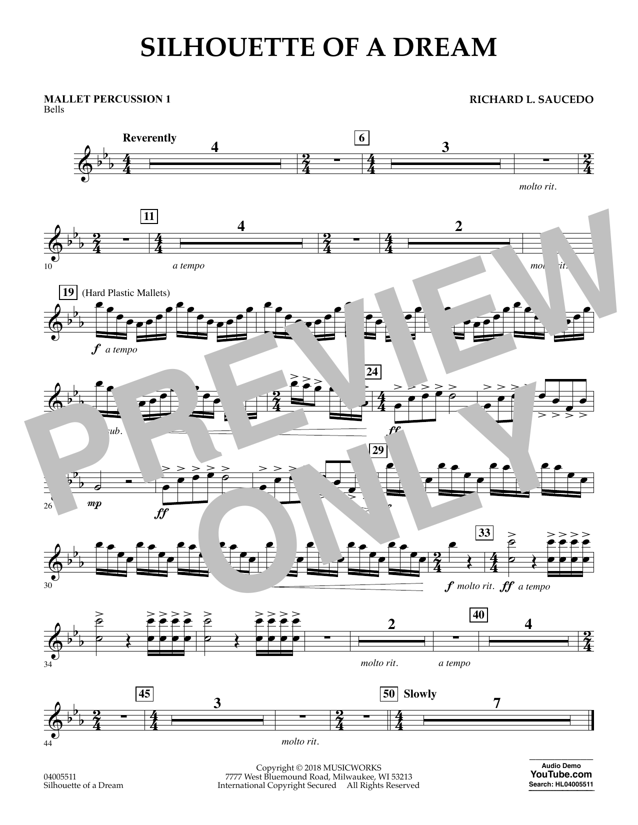 Silhouette of a Dream - Mallet Percussion 1 (Concert Band)