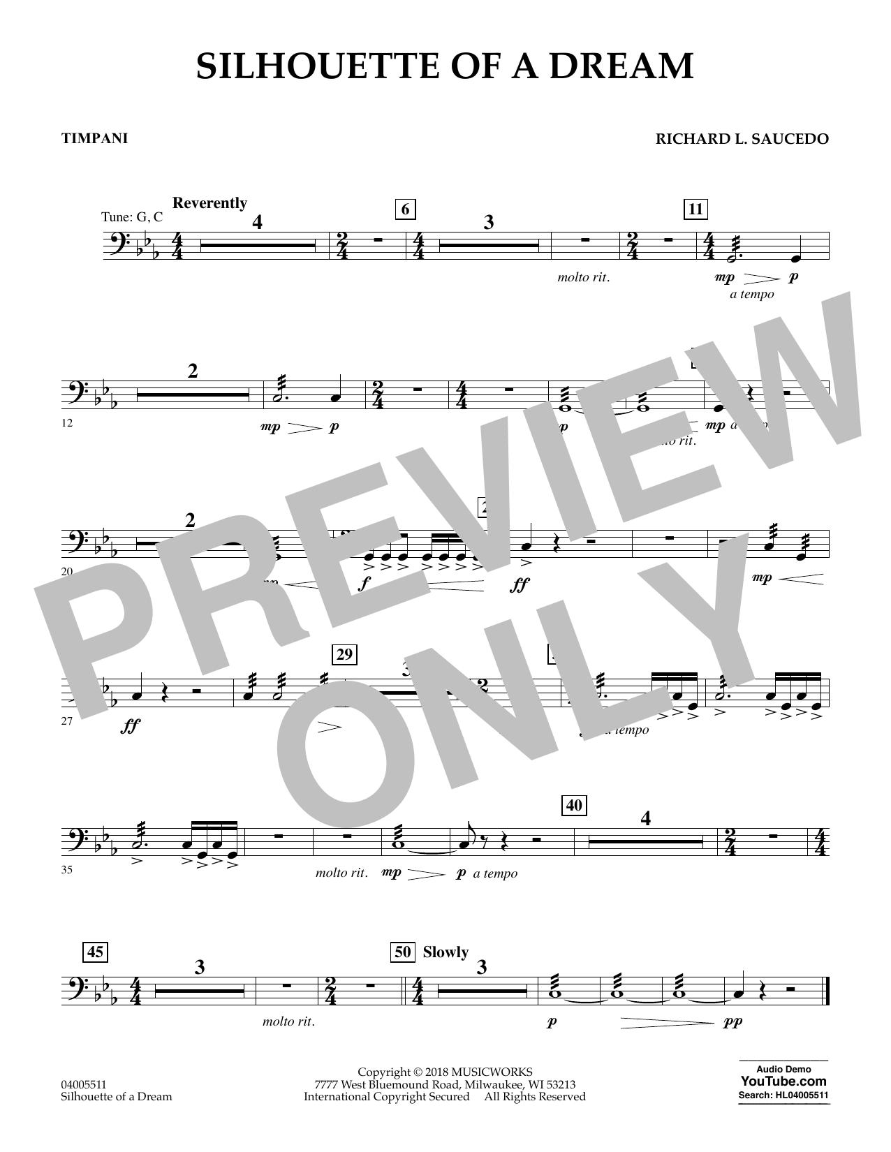 Silhouette of a Dream - Timpani (Concert Band)