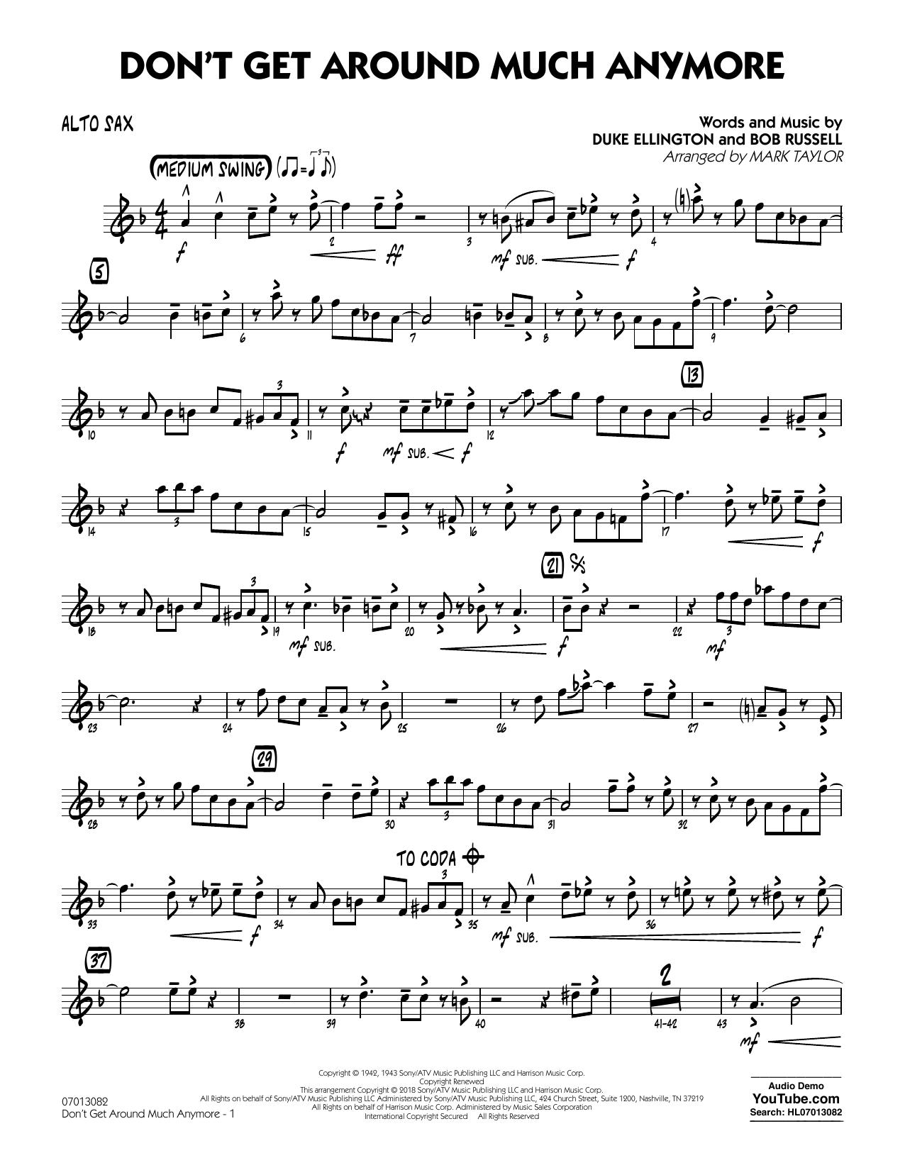 Don't Get Around Much Anymore - Alto Sax (Jazz Ensemble)