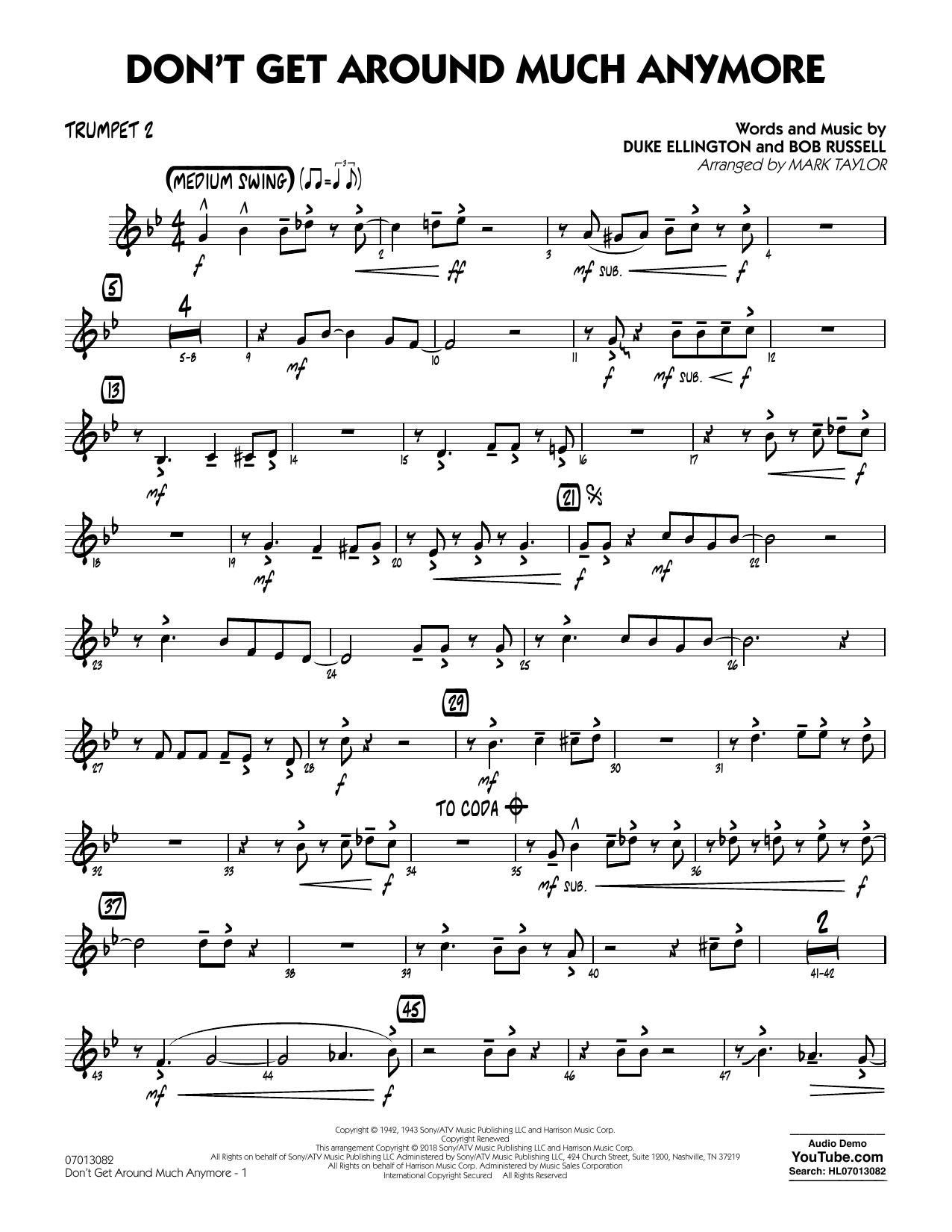 Don't Get Around Much Anymore - Trumpet 2 (Jazz Ensemble)