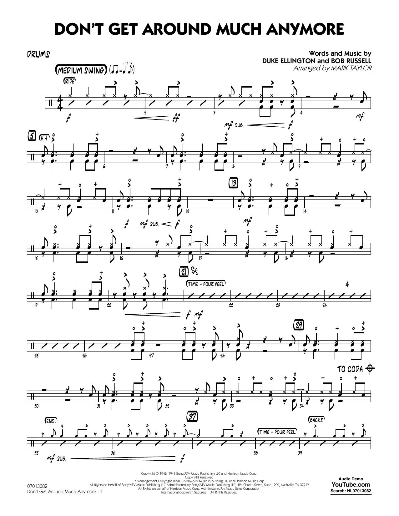 Don't Get Around Much Anymore - Drums (Jazz Ensemble)