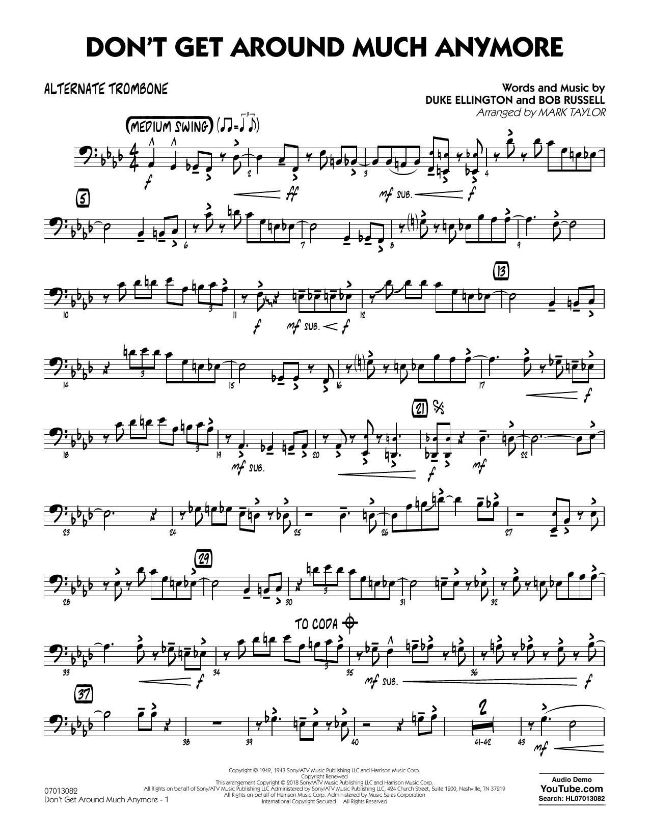 Don't Get Around Much Anymore - Alternate Trombone (Jazz Ensemble)