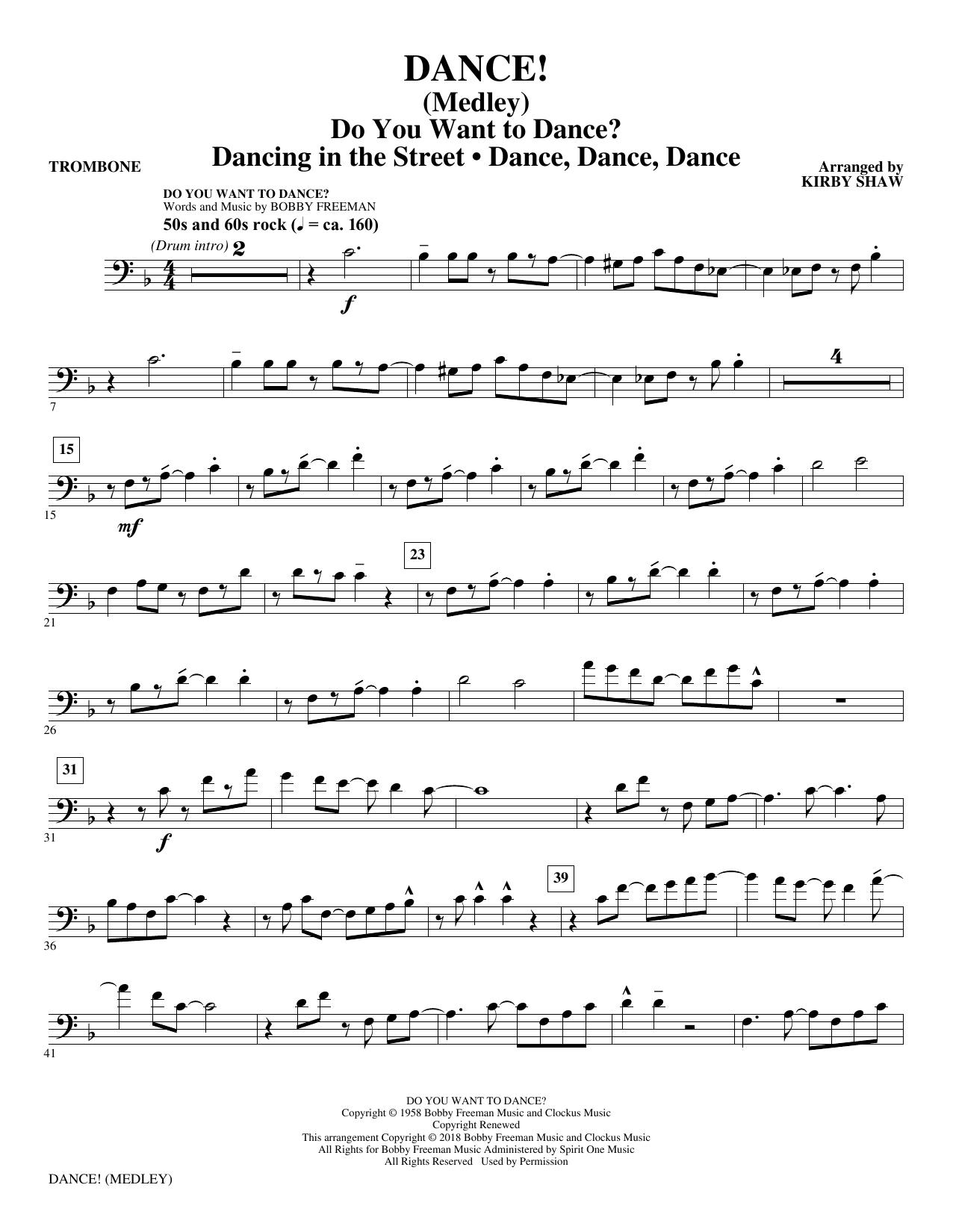 DANCE! (Medley) - Trombone (Choir Instrumental Pak)