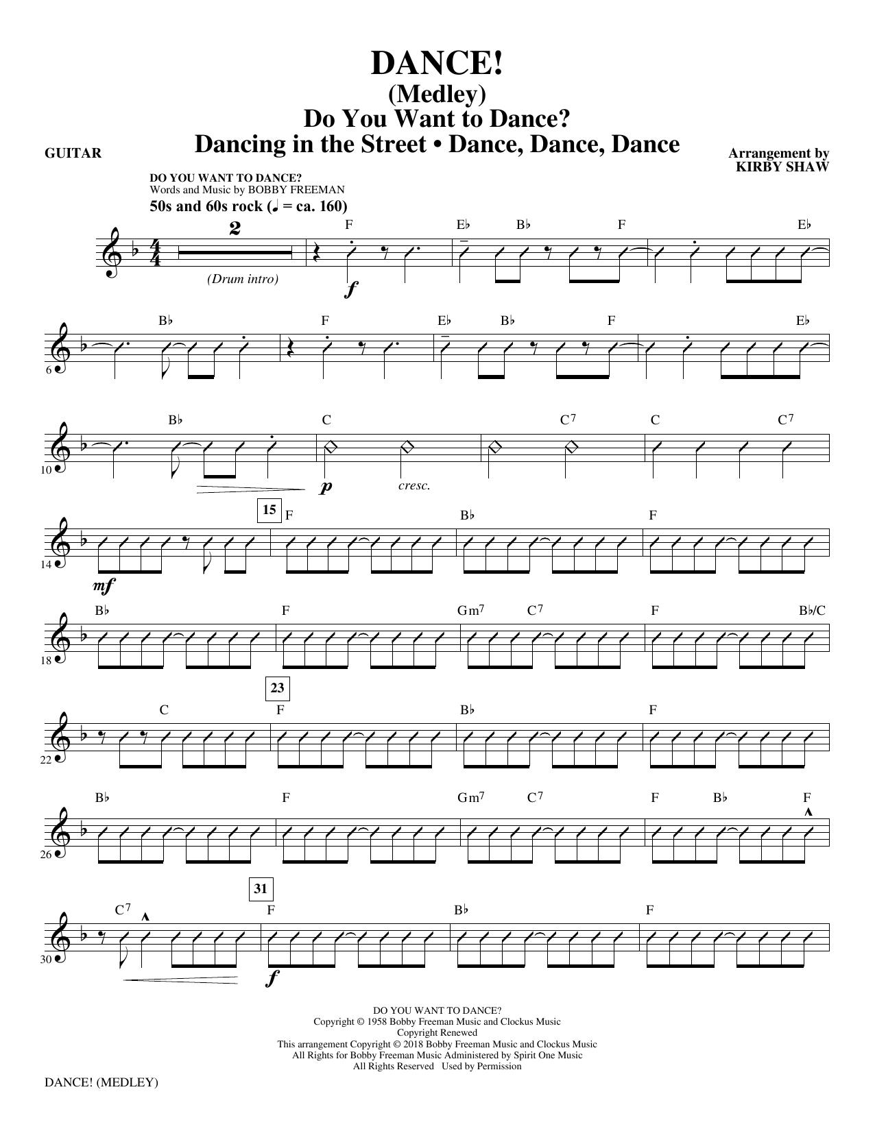 DANCE! (Medley) - Guitar (Choir Instrumental Pak)