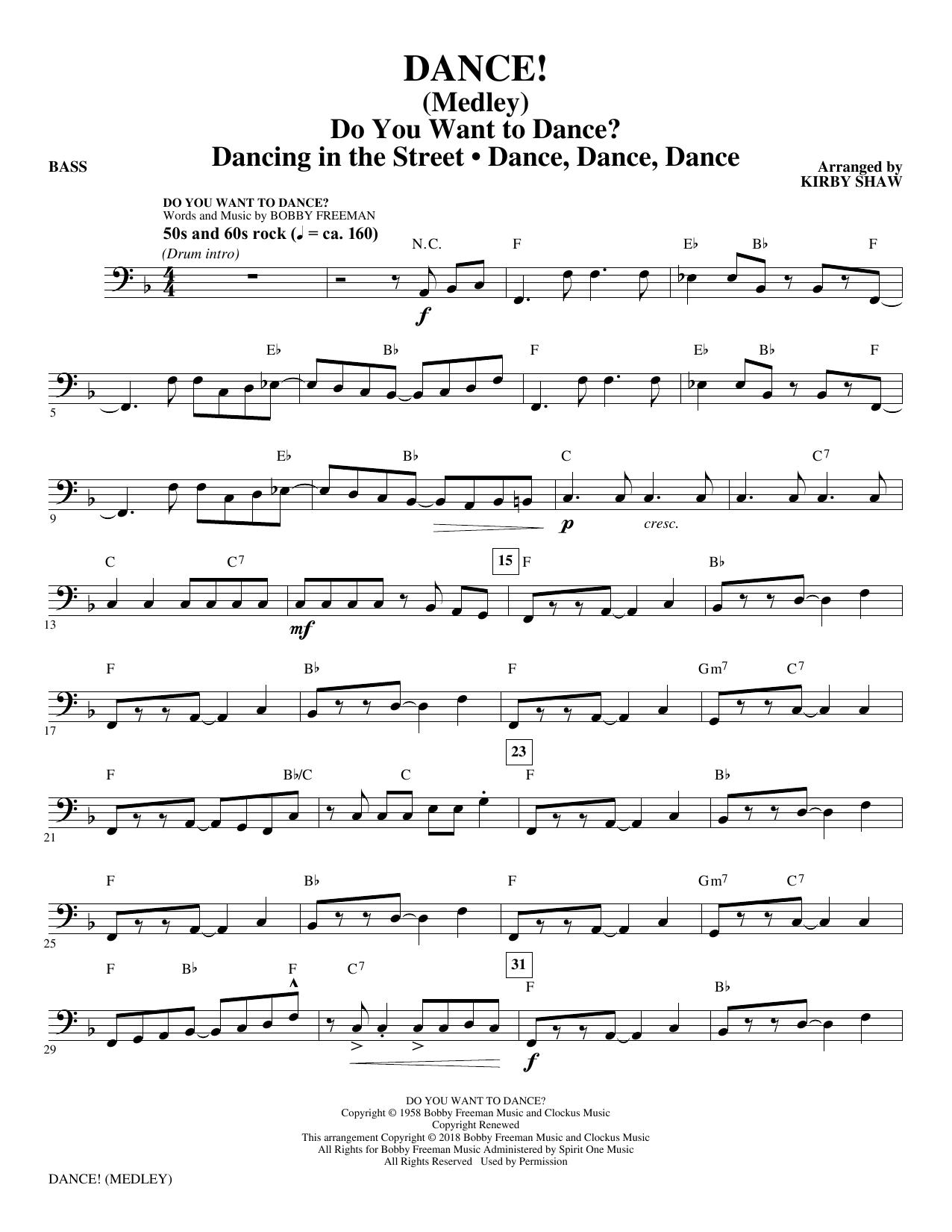DANCE! (Medley) - Bass (Choir Instrumental Pak)
