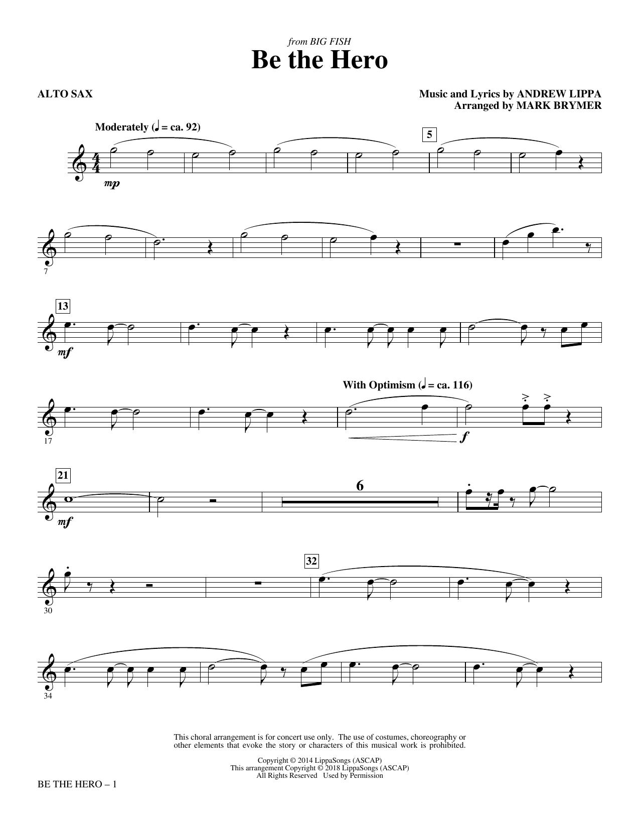 Be the Hero - Alto Sax (Choir Instrumental Pak)