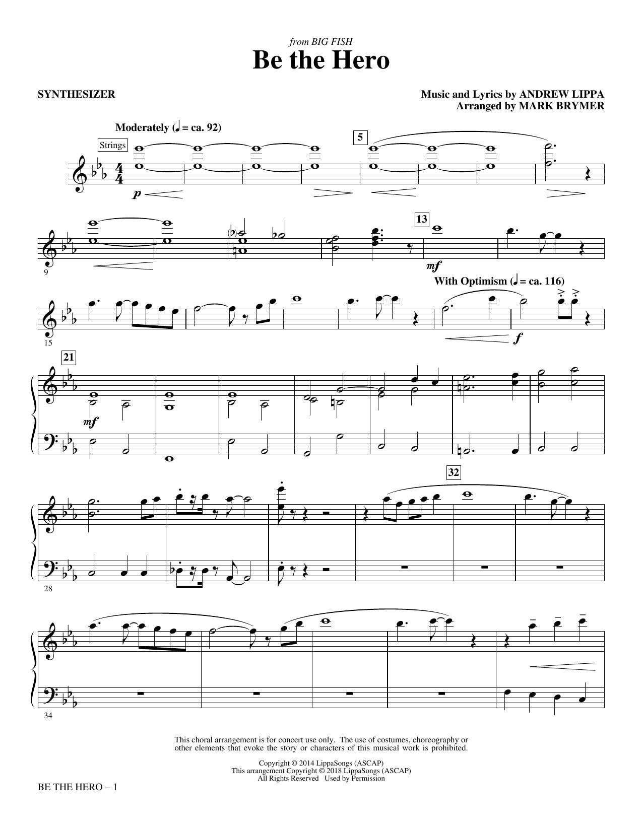 Be the Hero - Synthesizer (Choir Instrumental Pak)