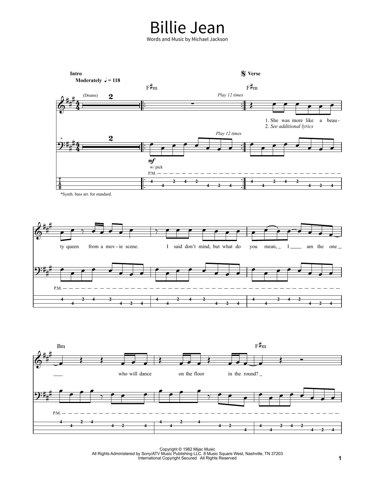 Billie Jean Sheet Music