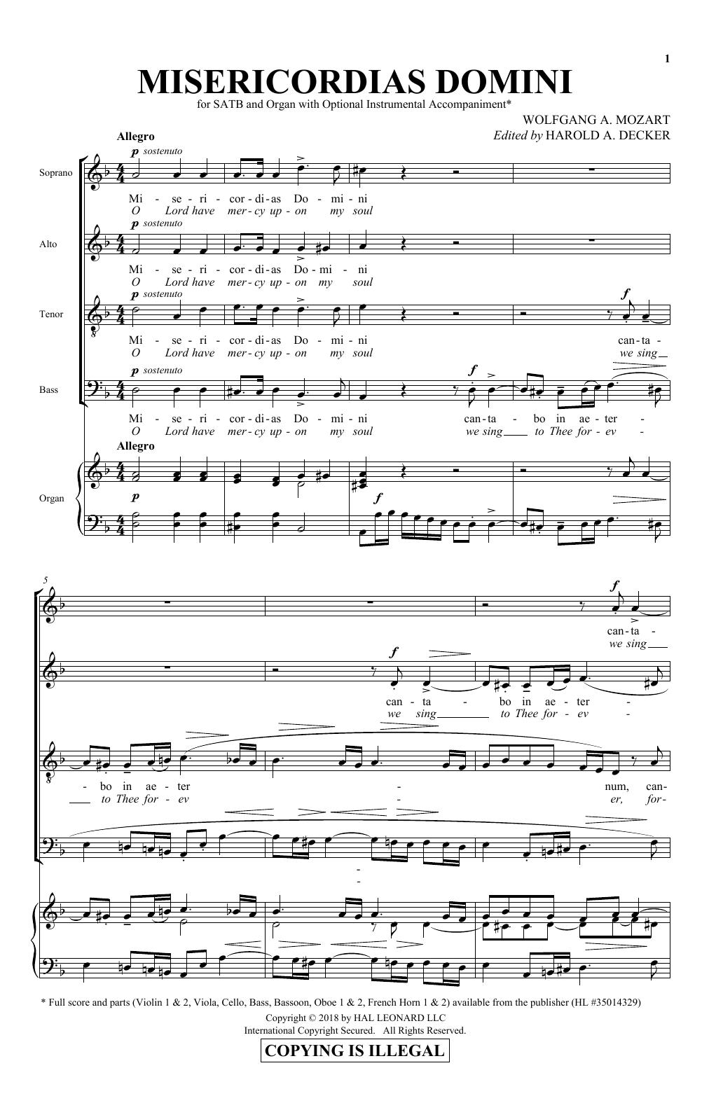 Misericordias Domini (SATB Choir)