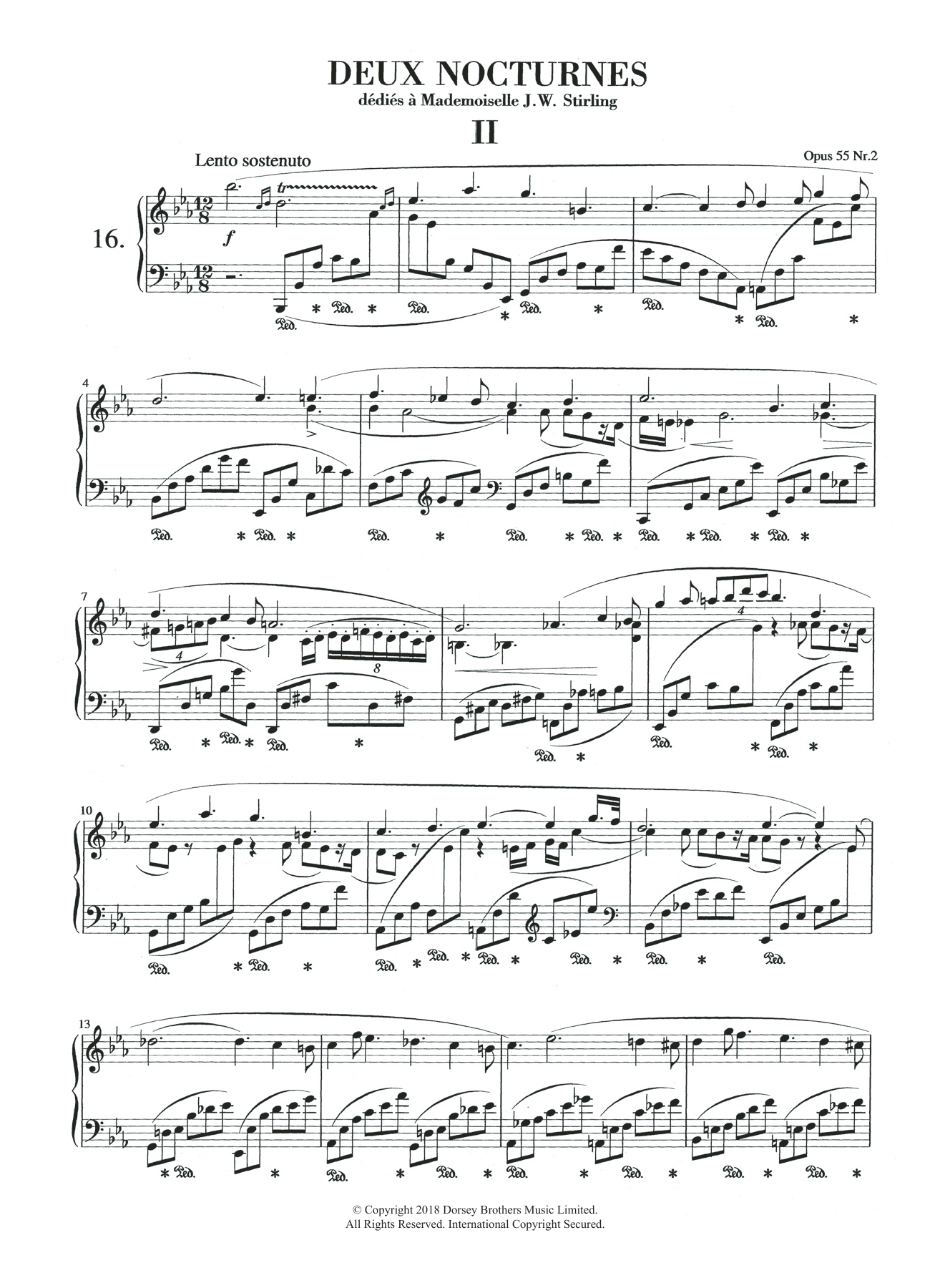 Nocturne In E Flat Major, Op.55, No.2 Sheet Music