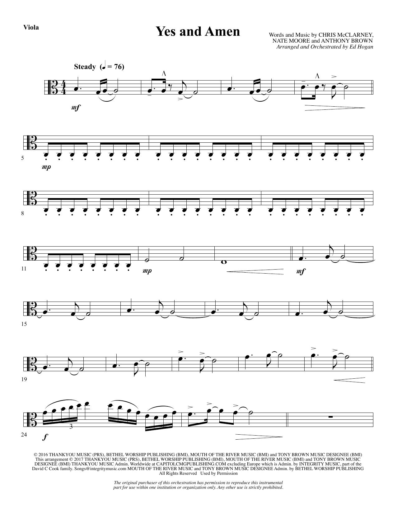 Yes and Amen - Viola (Choir Instrumental Pak)
