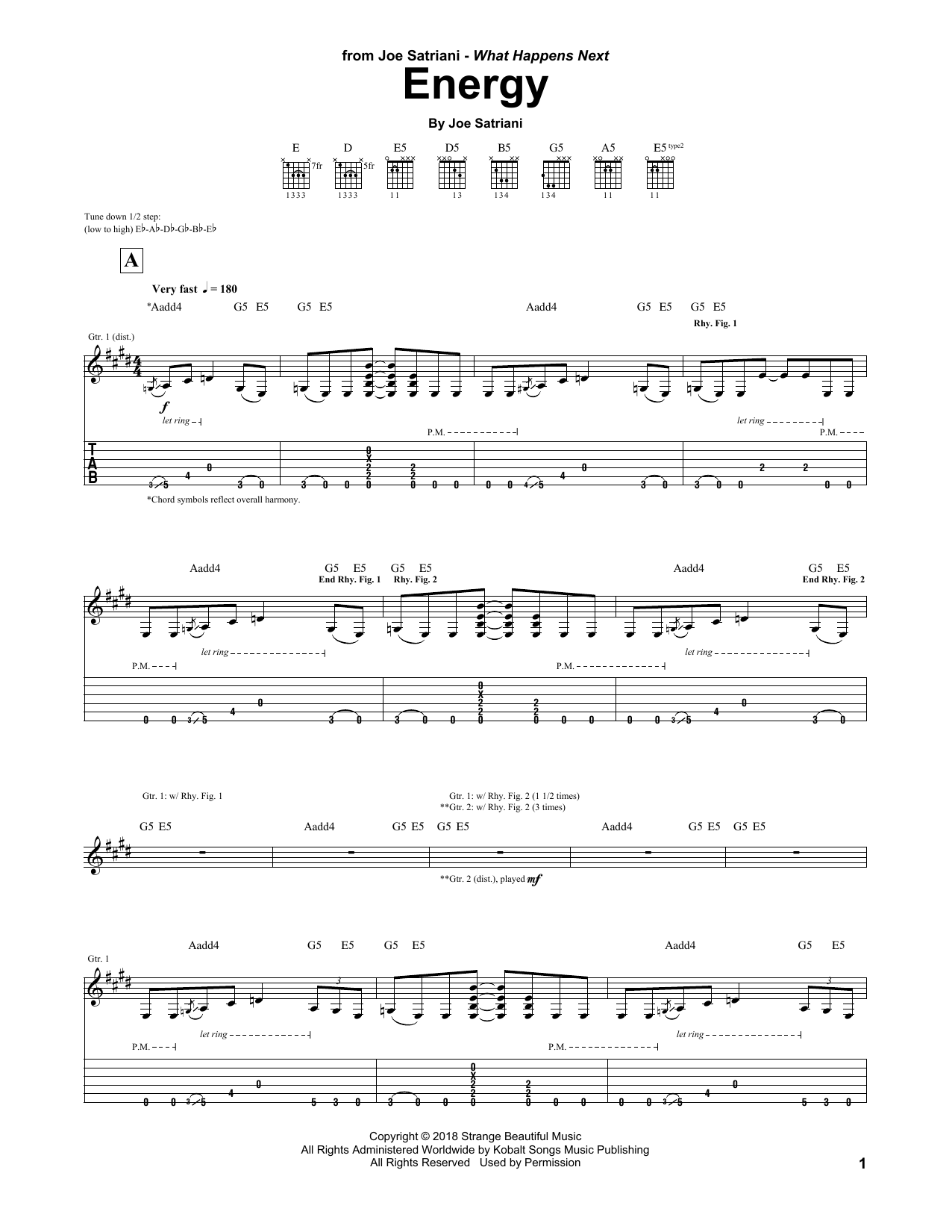 Energy (Guitar Tab)