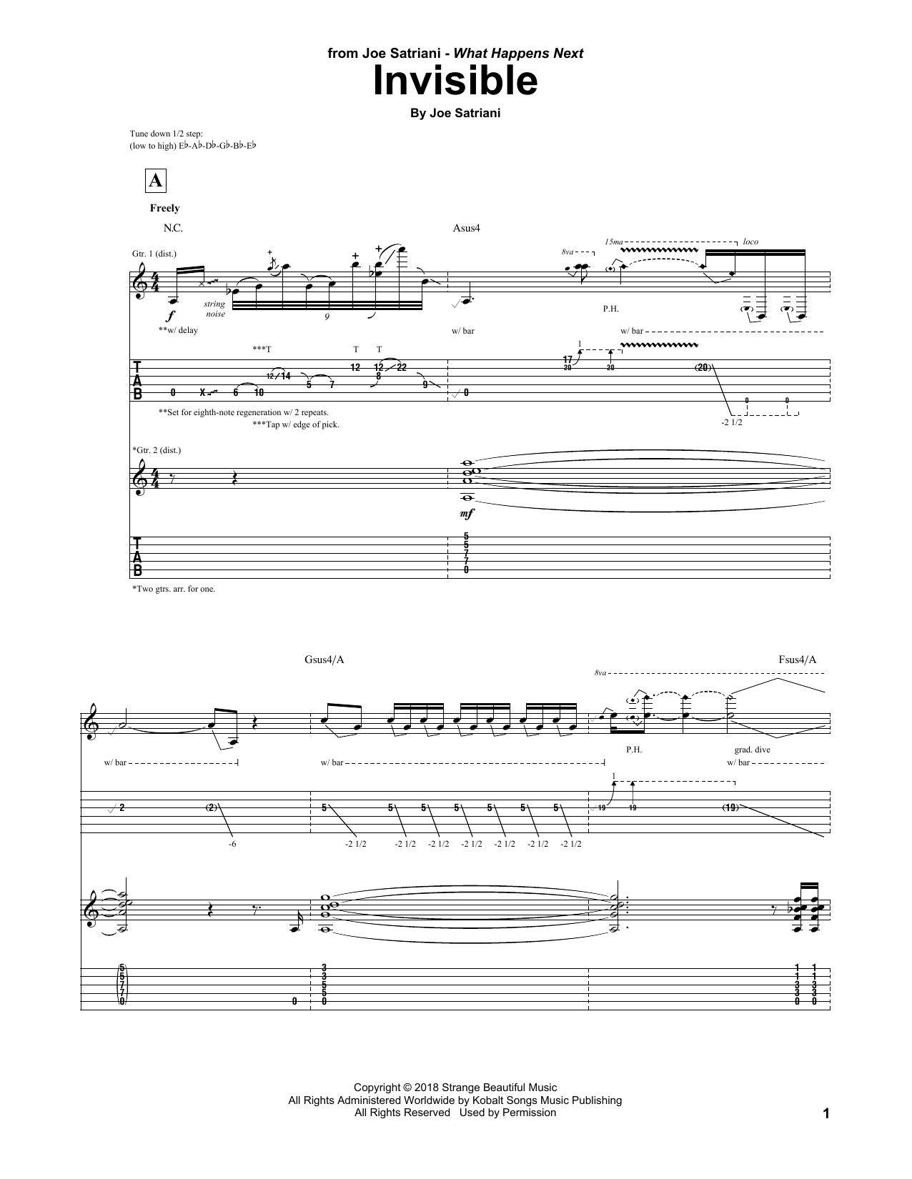 Invisible (Guitar Tab)