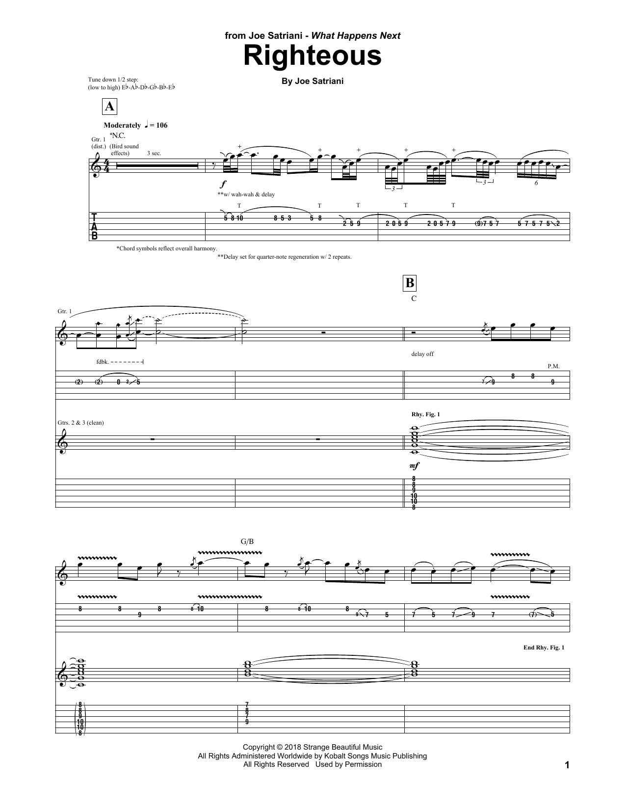 Righteous (Guitar Tab)