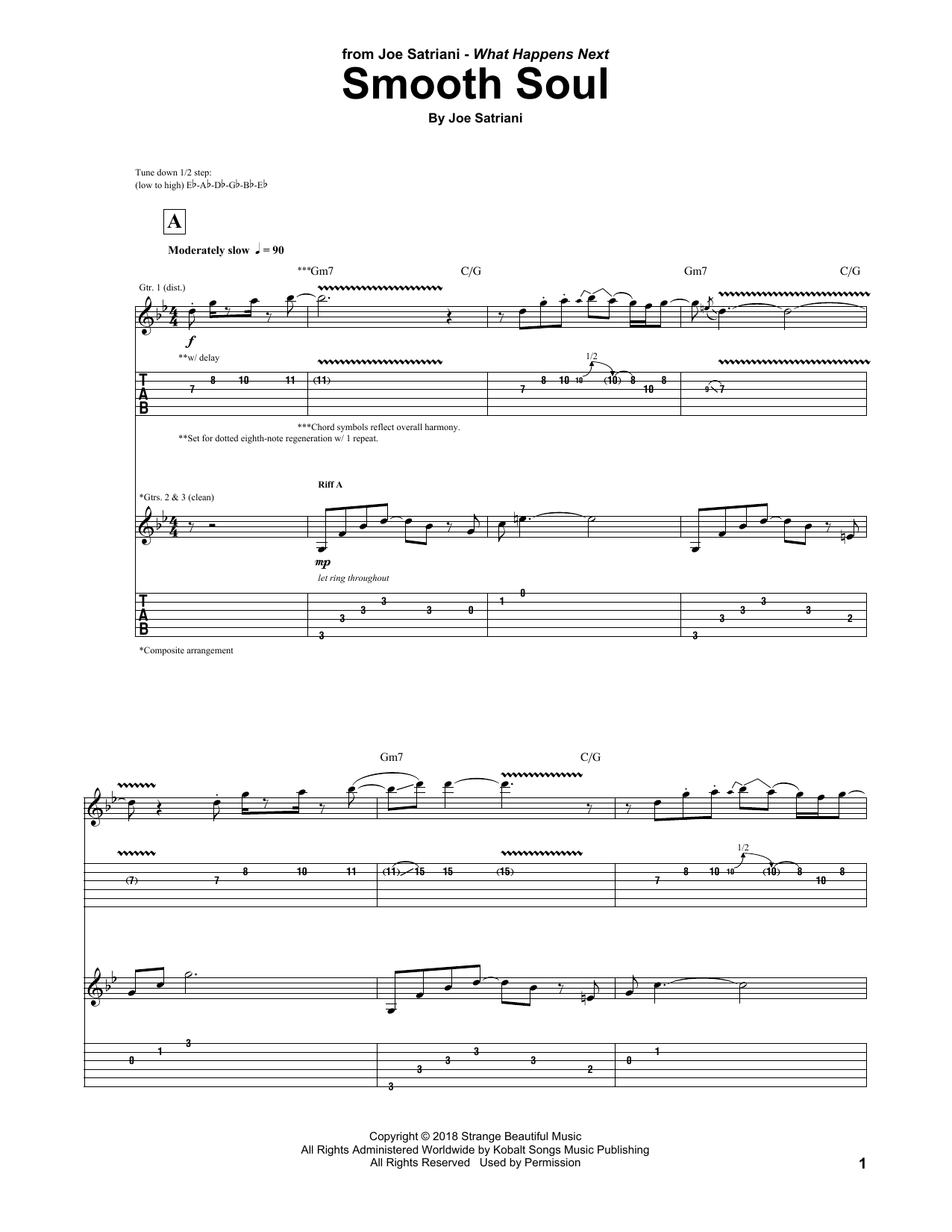 Smooth Soul (Guitar Tab)
