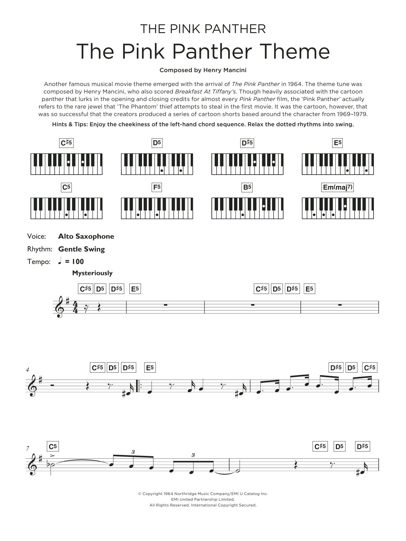 The Pink Panther Theme Sheet Music