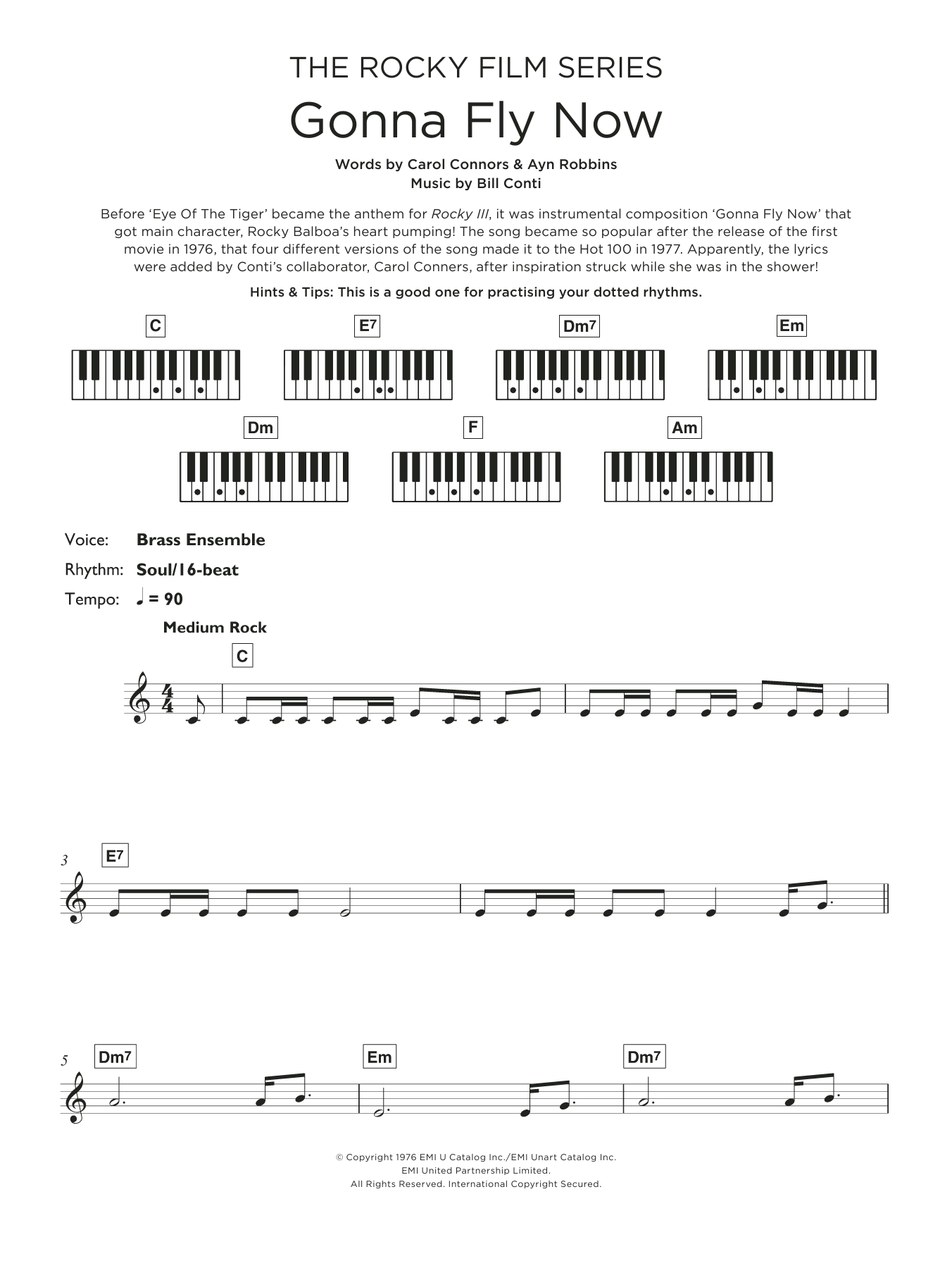 """Gonna Fly Now (Theme from """"Rocky"""") (Keyboard (Abridged))"""