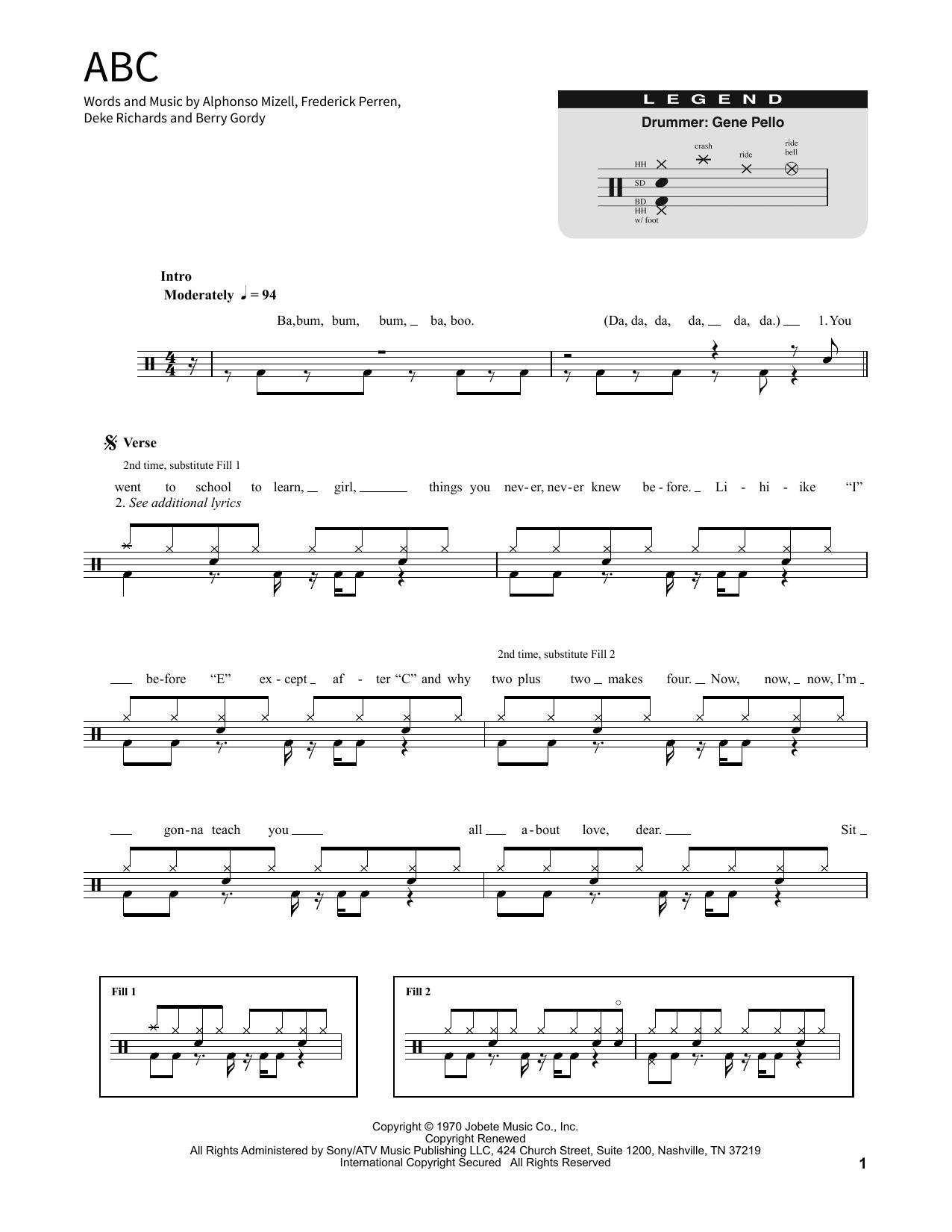 ABC Sheet Music