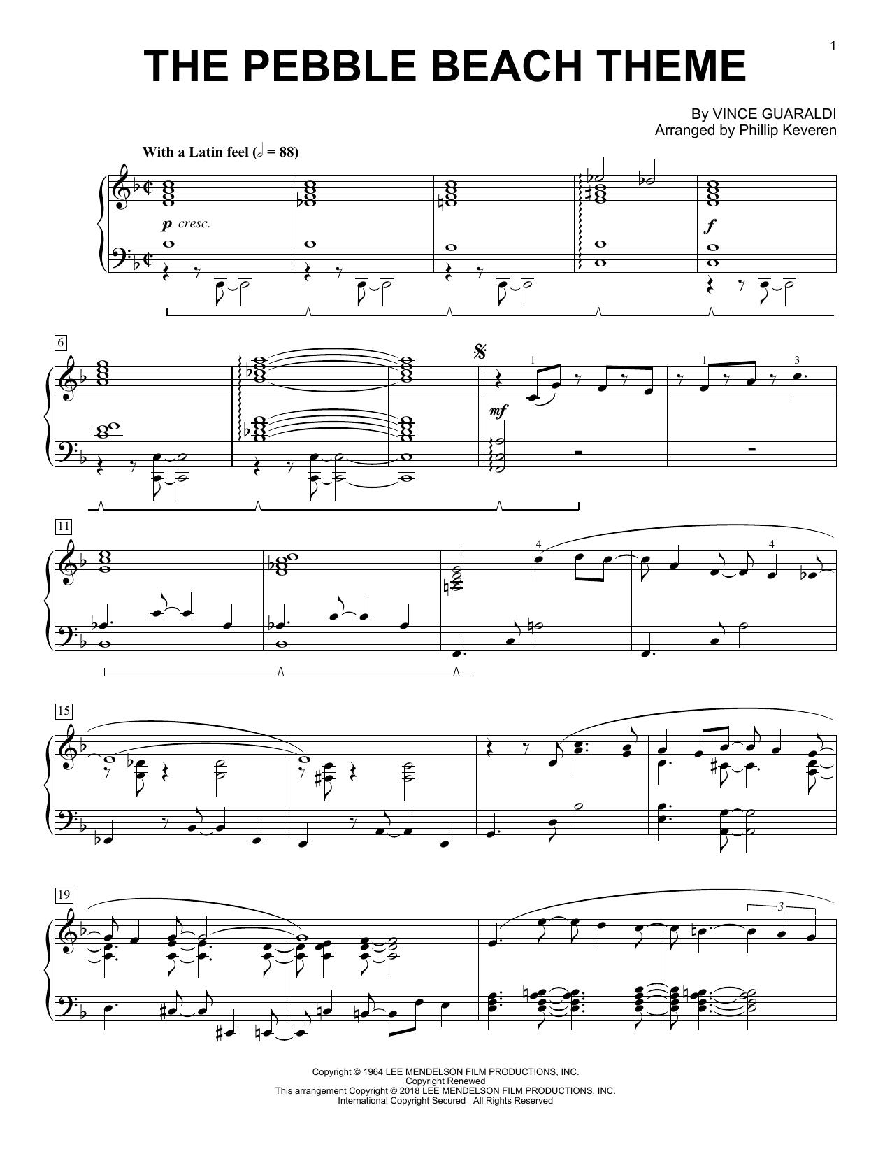 The Pebble Beach Theme (arr. Phillip Keveren) (Piano Solo)