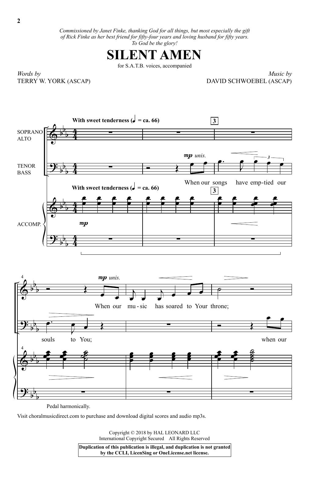 Silent Amen (SATB Choir)