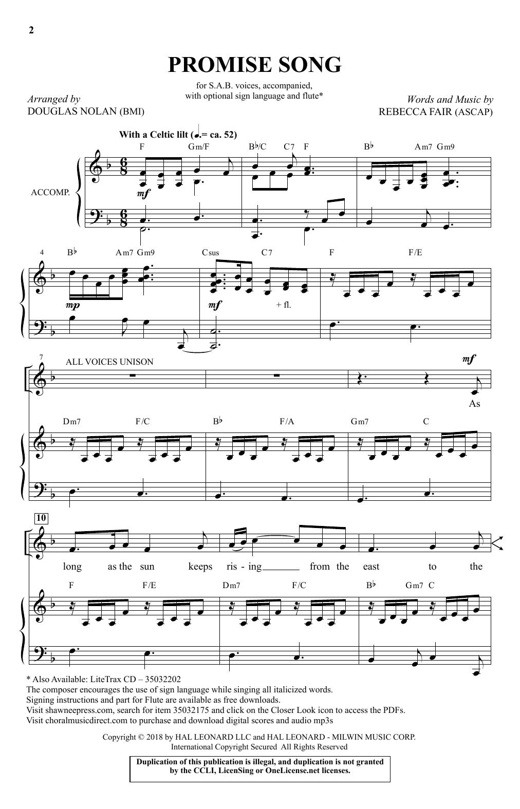Promise Song Sheet Music
