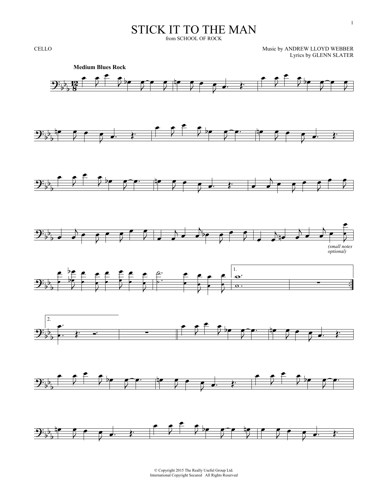 Stick It To The Man (from School of Rock: The Musical) (Cello Solo)