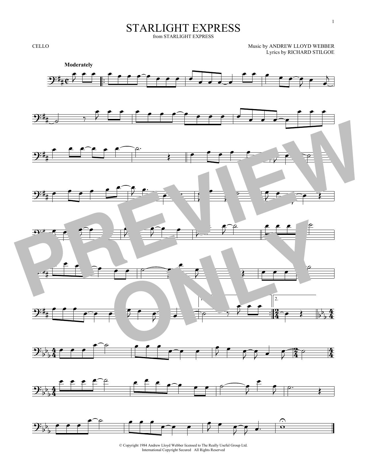 Starlight Express (Cello Solo)