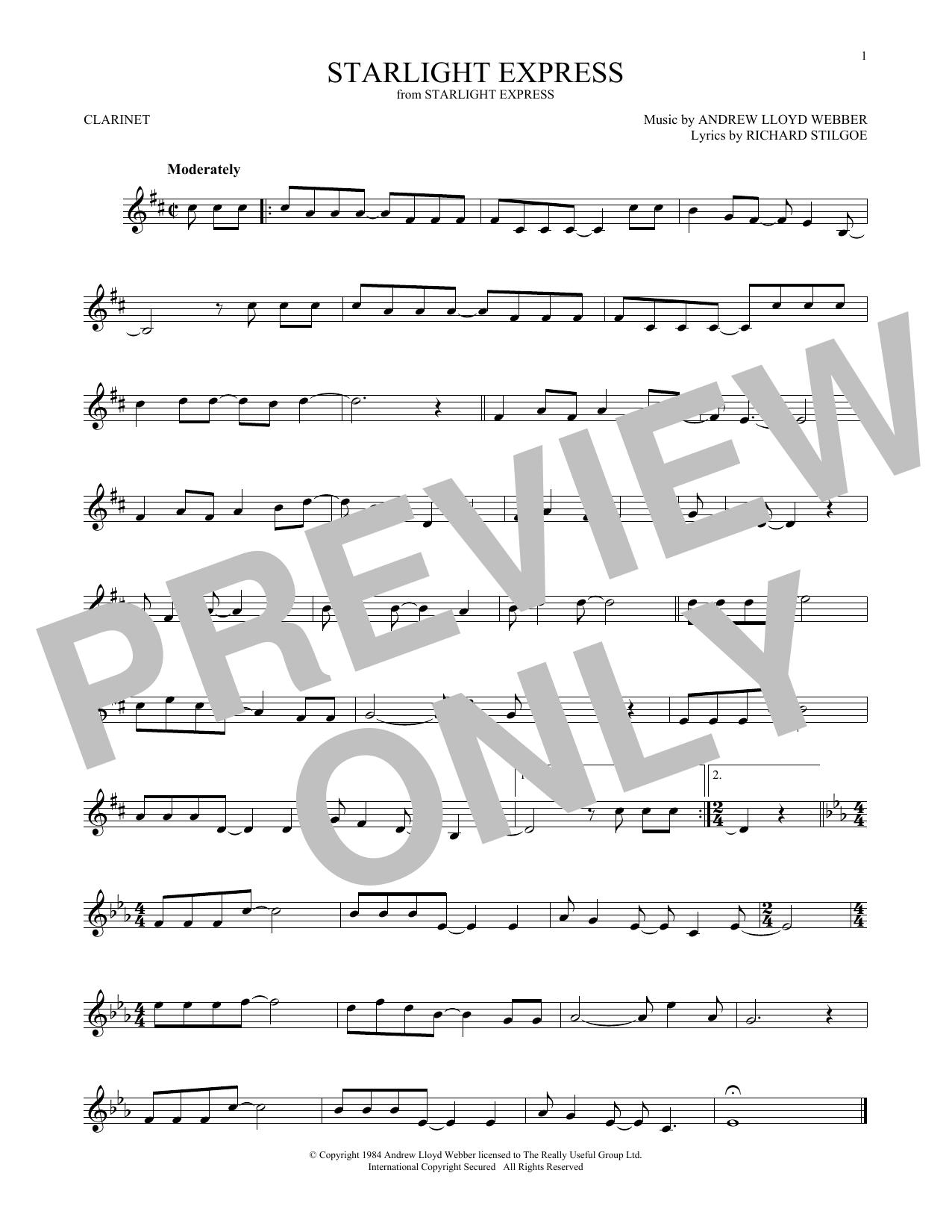 Starlight Express (Clarinet Solo)