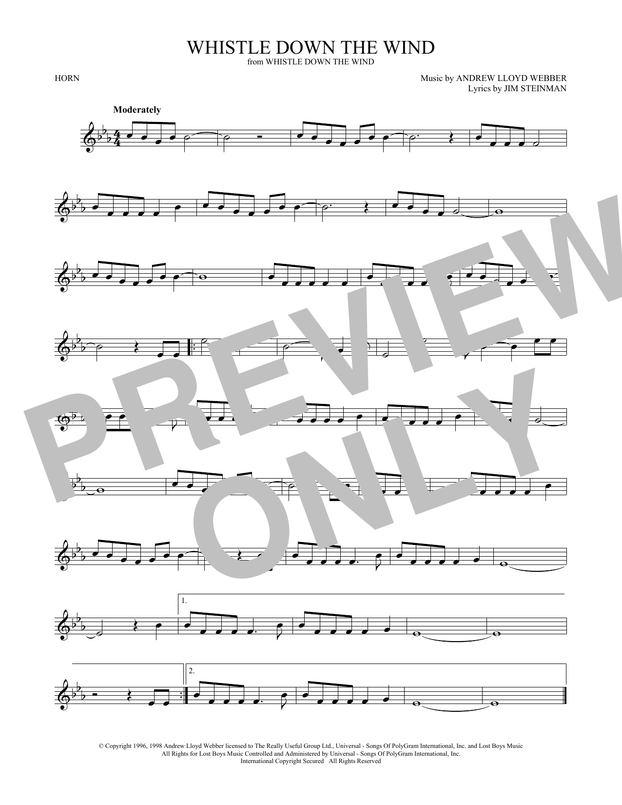 Whistle Down The Wind (French Horn Solo)