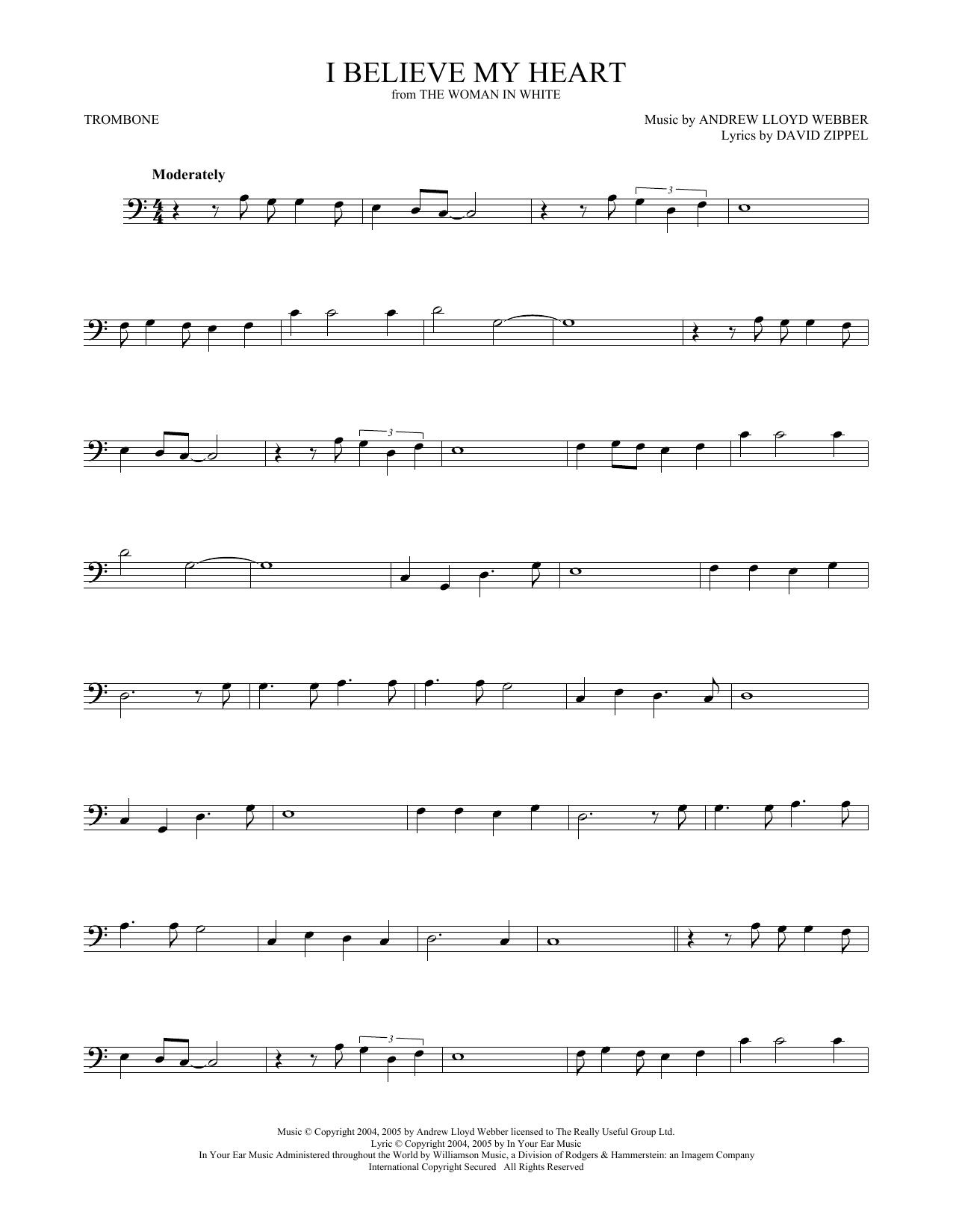 I Believe My Heart (from The Woman In White) (Trombone Solo)