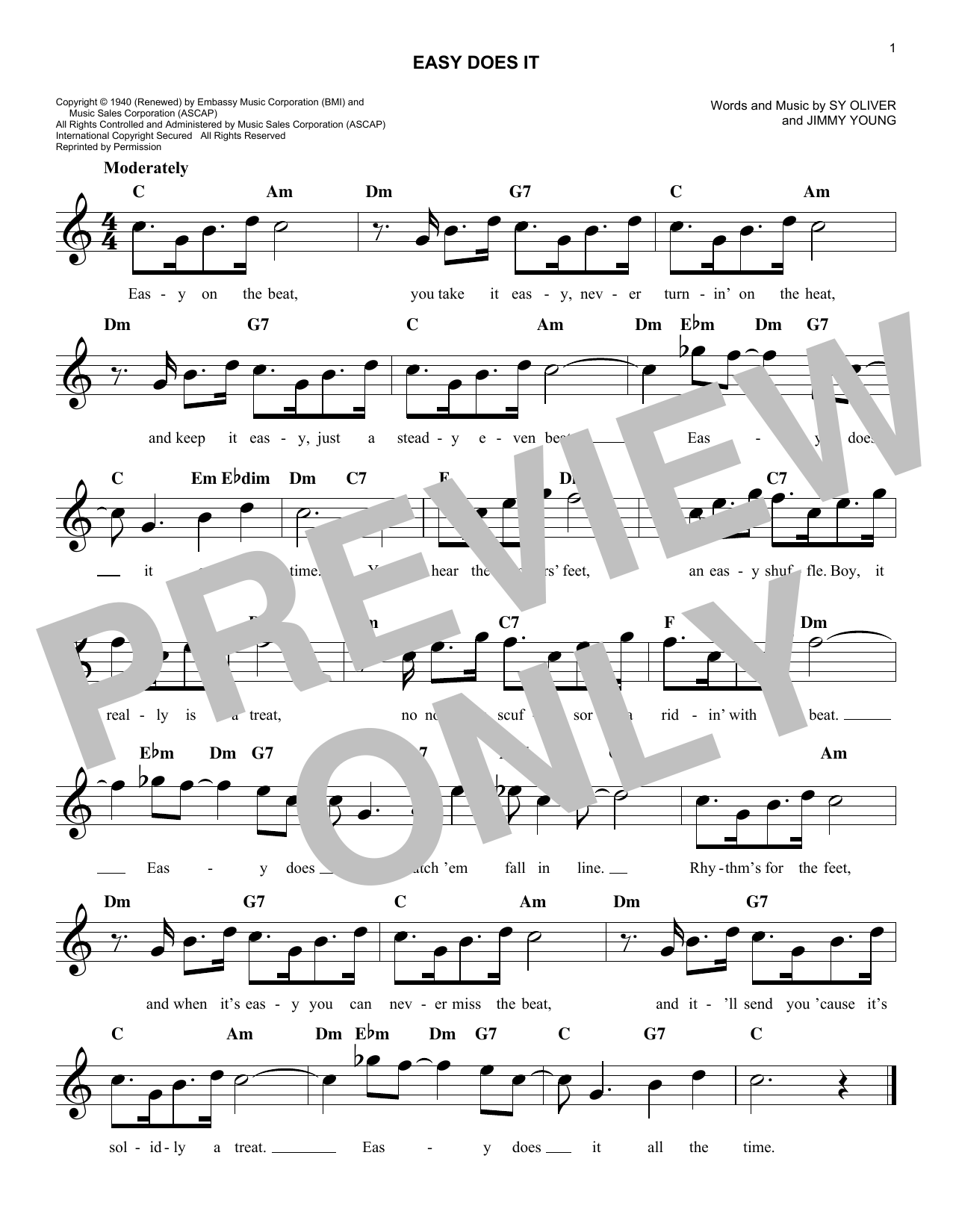 Easy Does It (Lead Sheet / Fake Book)