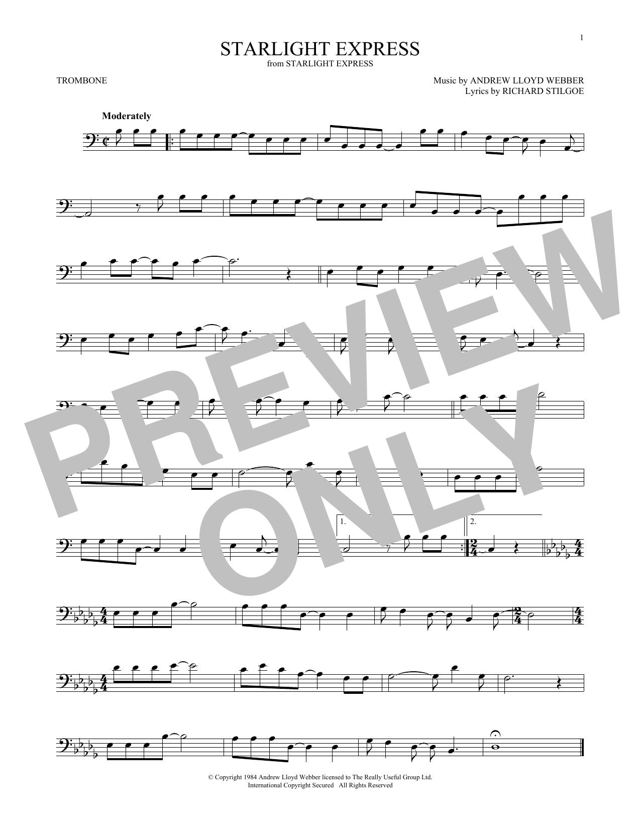Starlight Express (Trombone Solo)