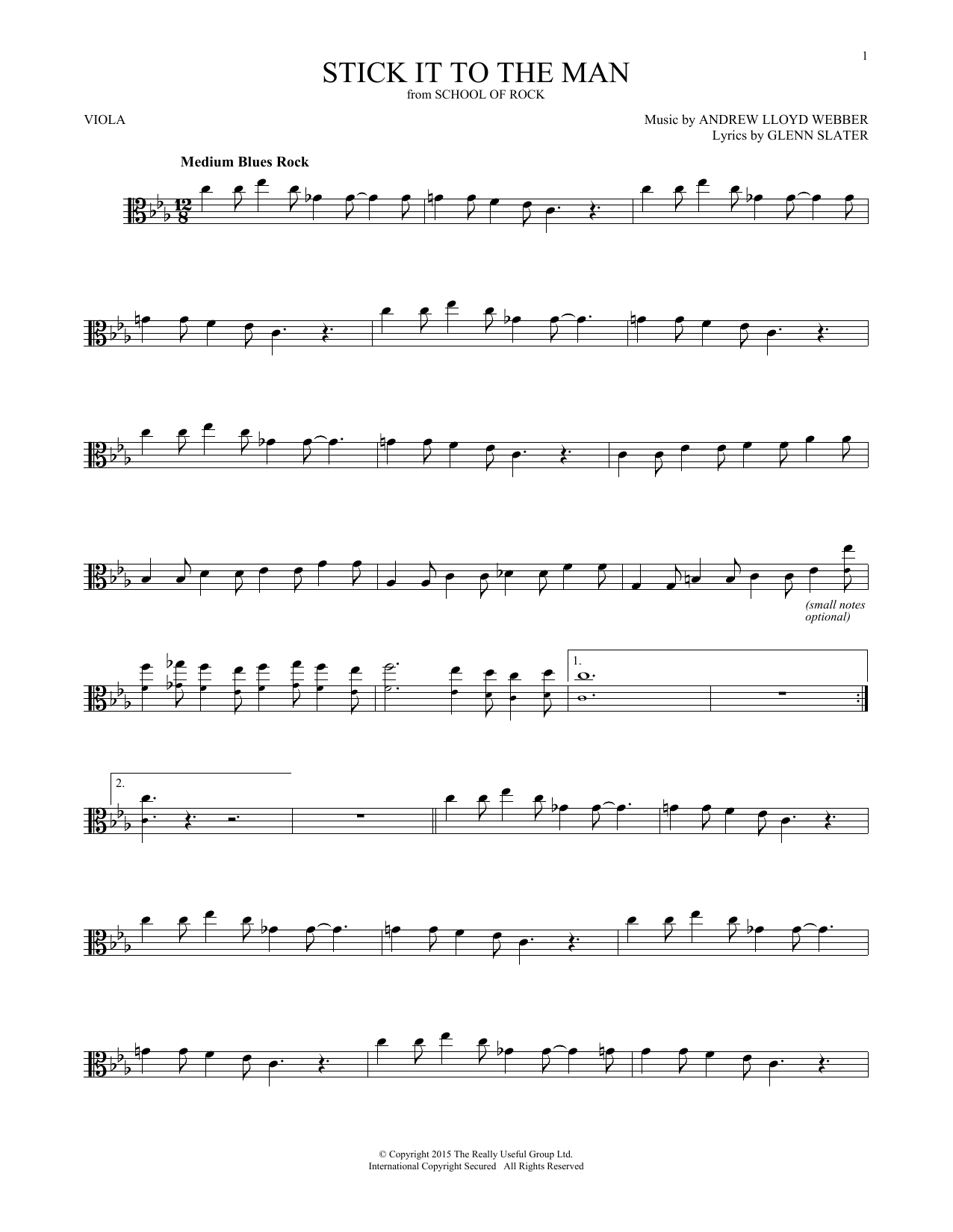 Stick It To The Man (from School of Rock: The Musical) (Viola Solo)