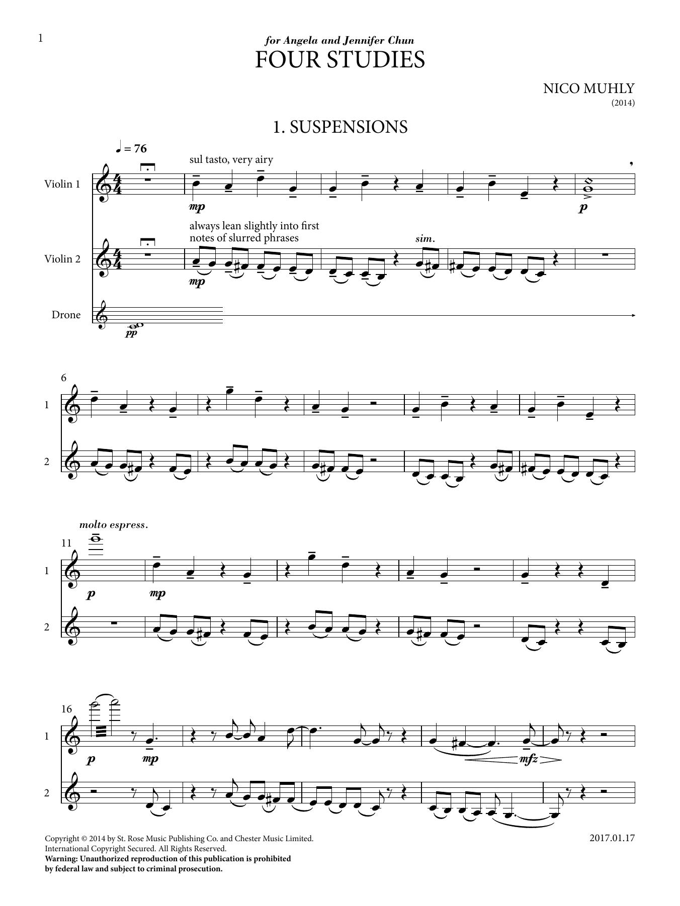 Four Studies Sheet Music