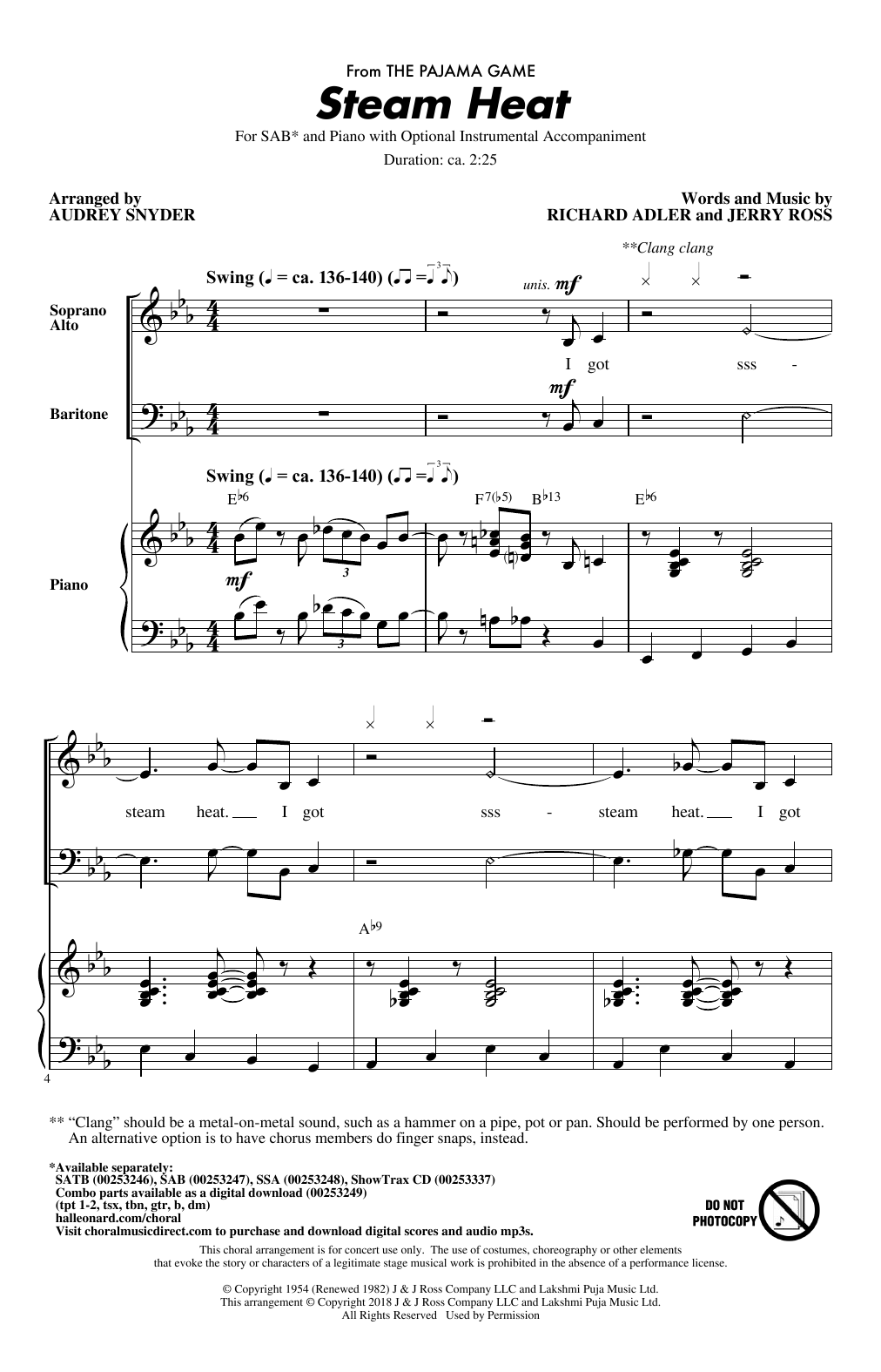 Steam Heat Sheet Music
