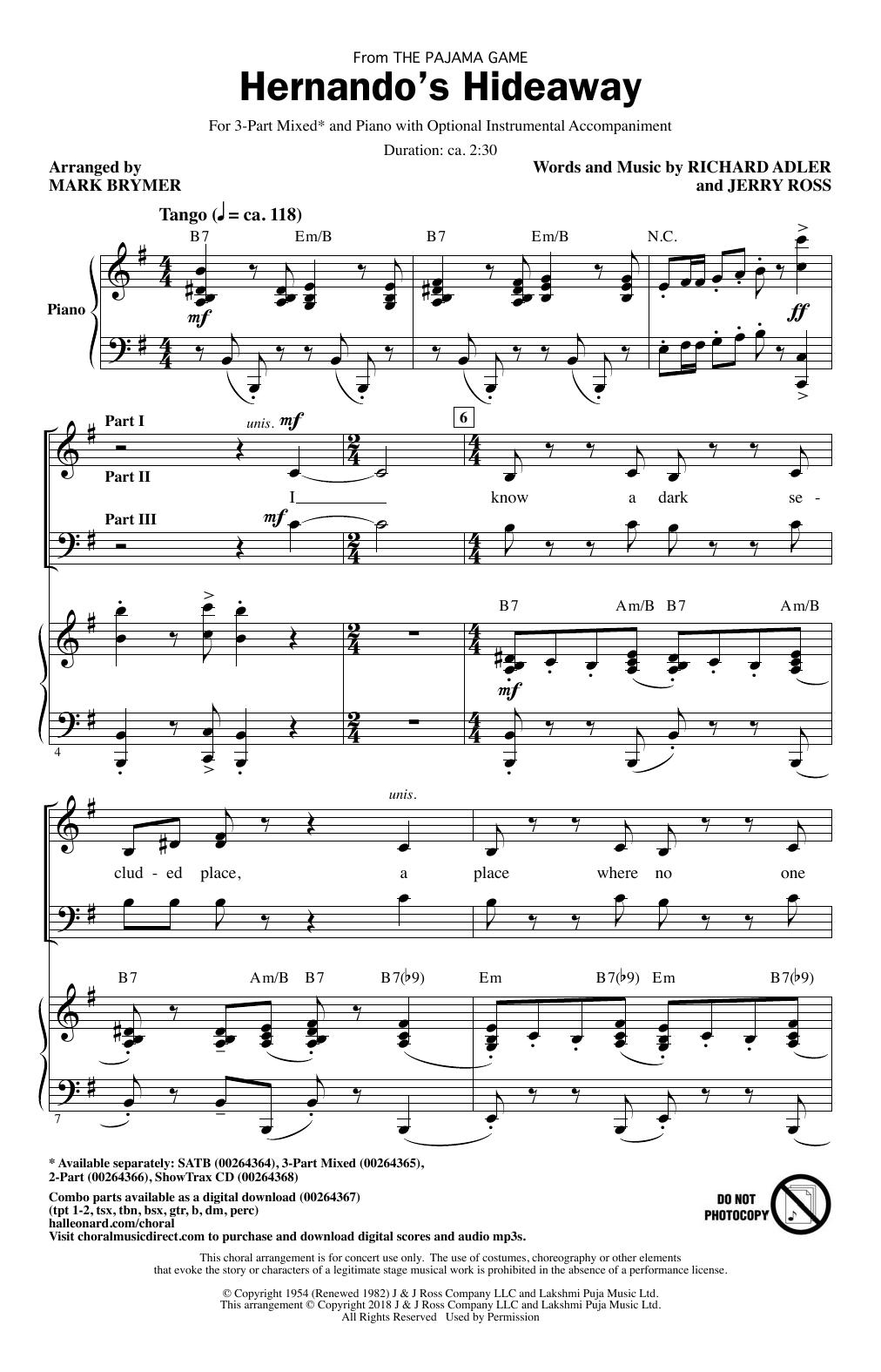 Hernando's Hideaway Sheet Music