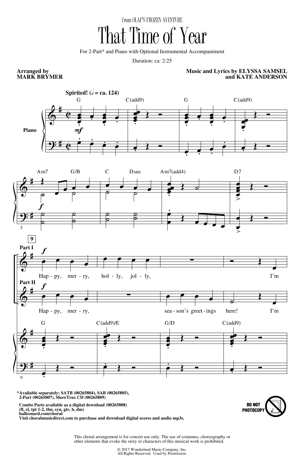 That Time Of Year (arr. Mark Brymer) (2-Part Choir)