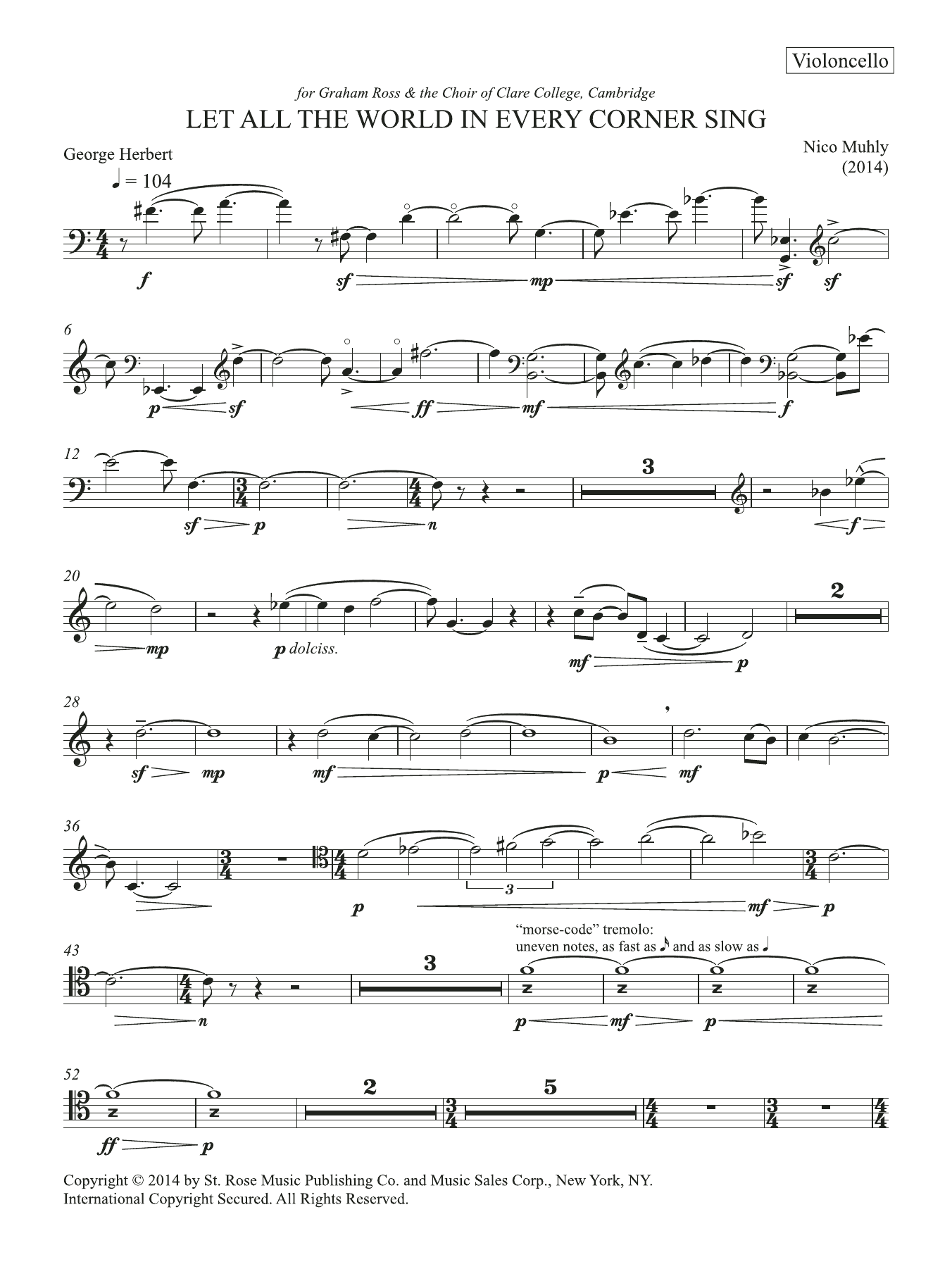 Let All The World In Every Corner Sing Sheet Music