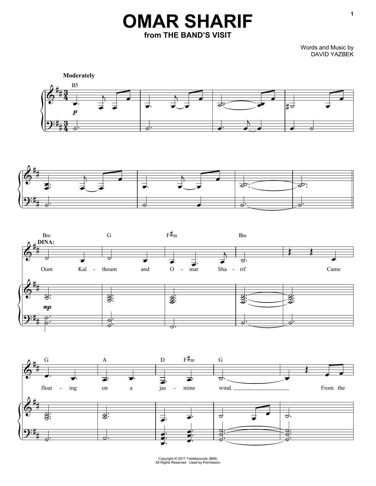 Sheet Music Digital Files To Print - Licensed David Yazbek Digital